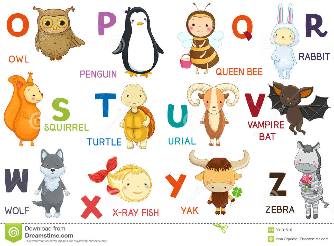 Cartoon Characters Letter Z : Letters and animals abc royalty free stock photos image