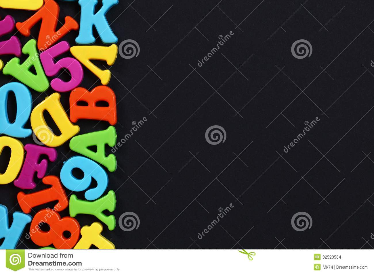 Letters Background Stock Photo. Image Of Colors, Education
