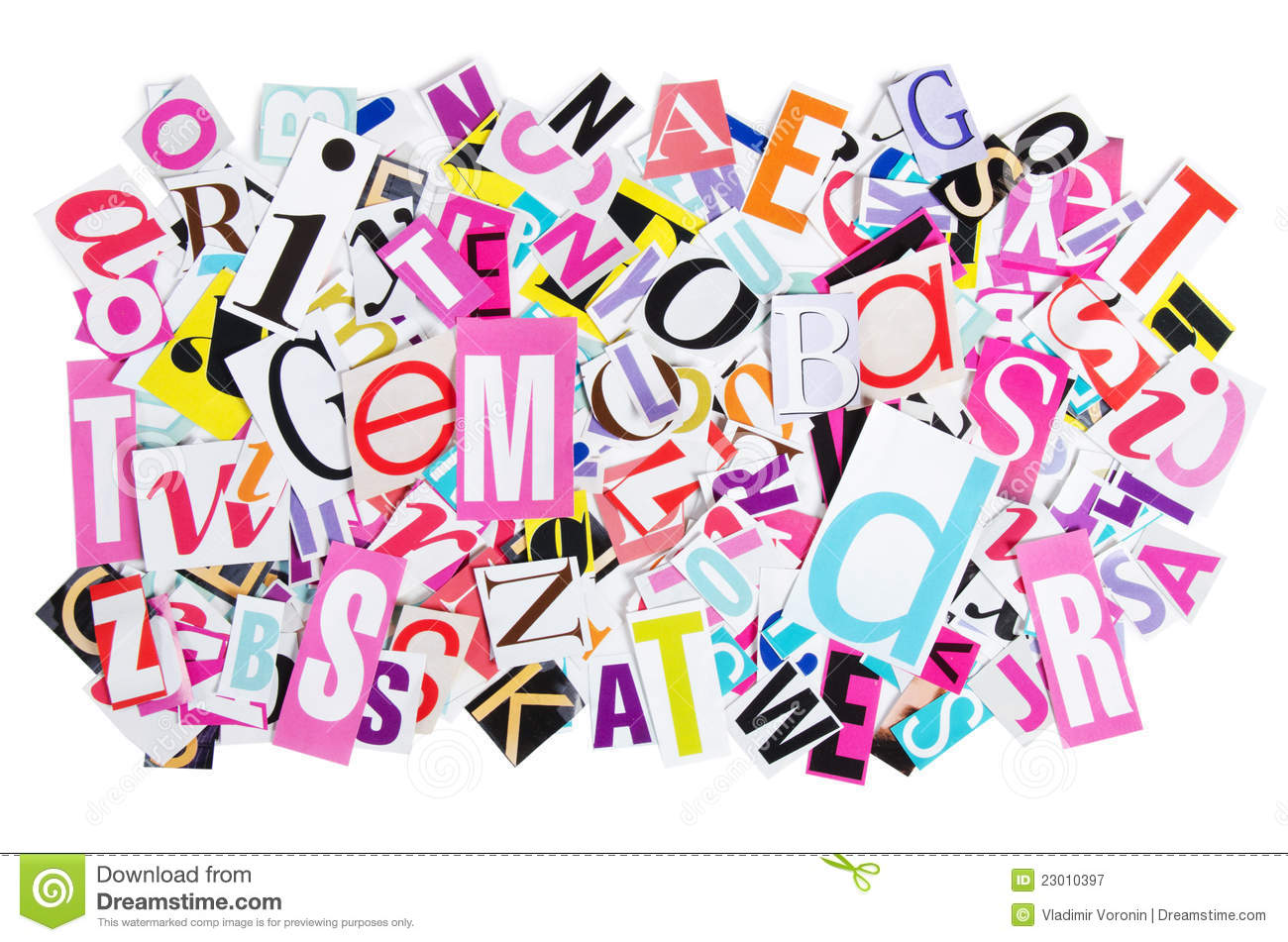 Letters cut out from newspapers stock image image of paper blue letters cut out from newspapers spiritdancerdesigns Choice Image