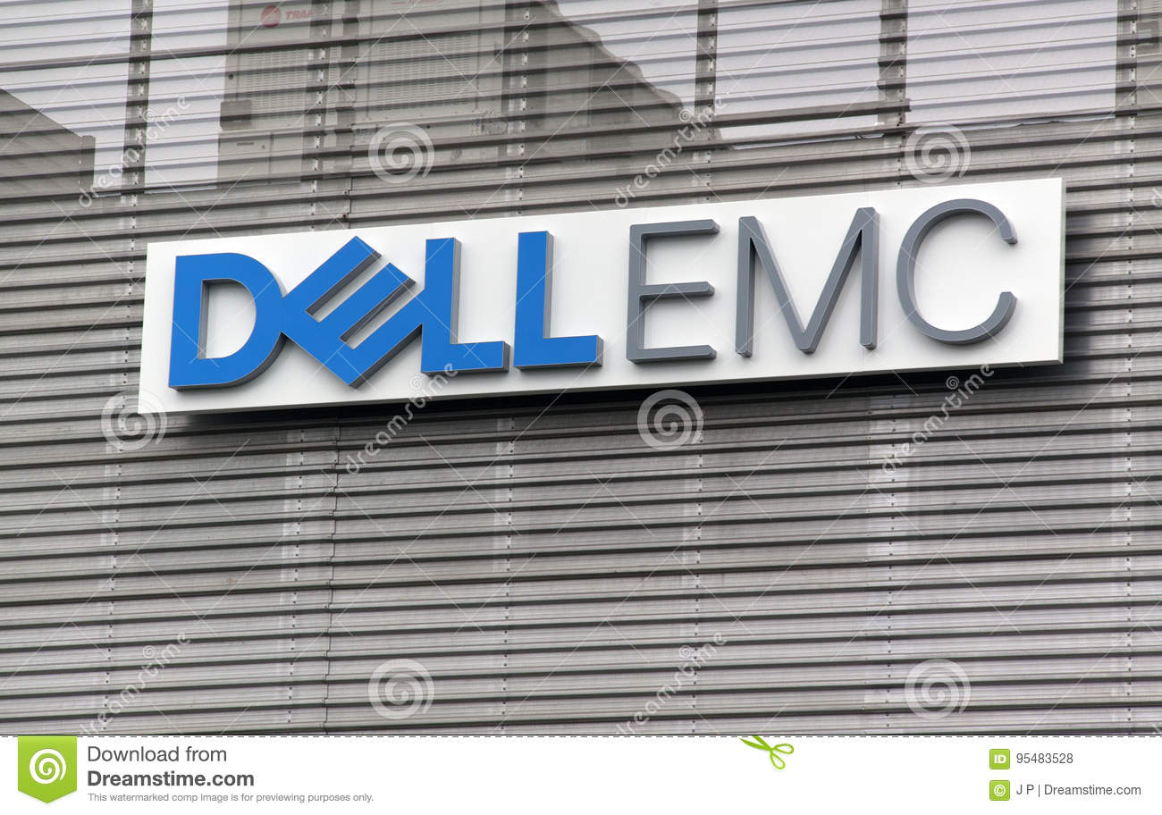 Letters Dell Emc On A Wall Editorial Stock Photo Image Of Data