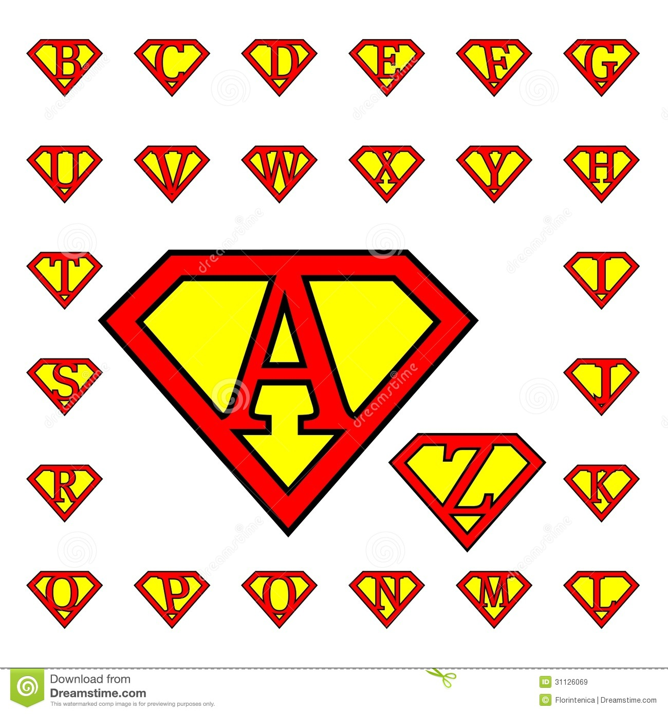 Letters stock vector illustration of t drawing print 31126069 drawings representing letters in superman style altavistaventures Images