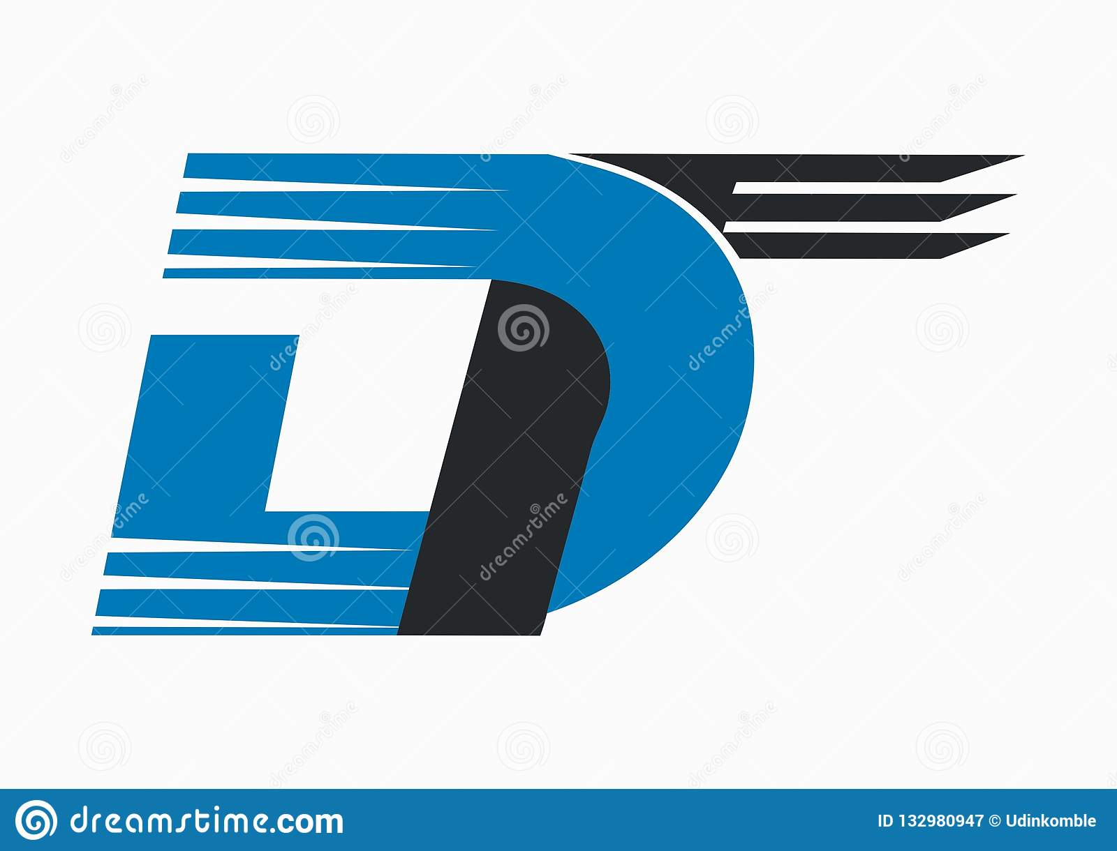 Letters DT Fast Vector Logo