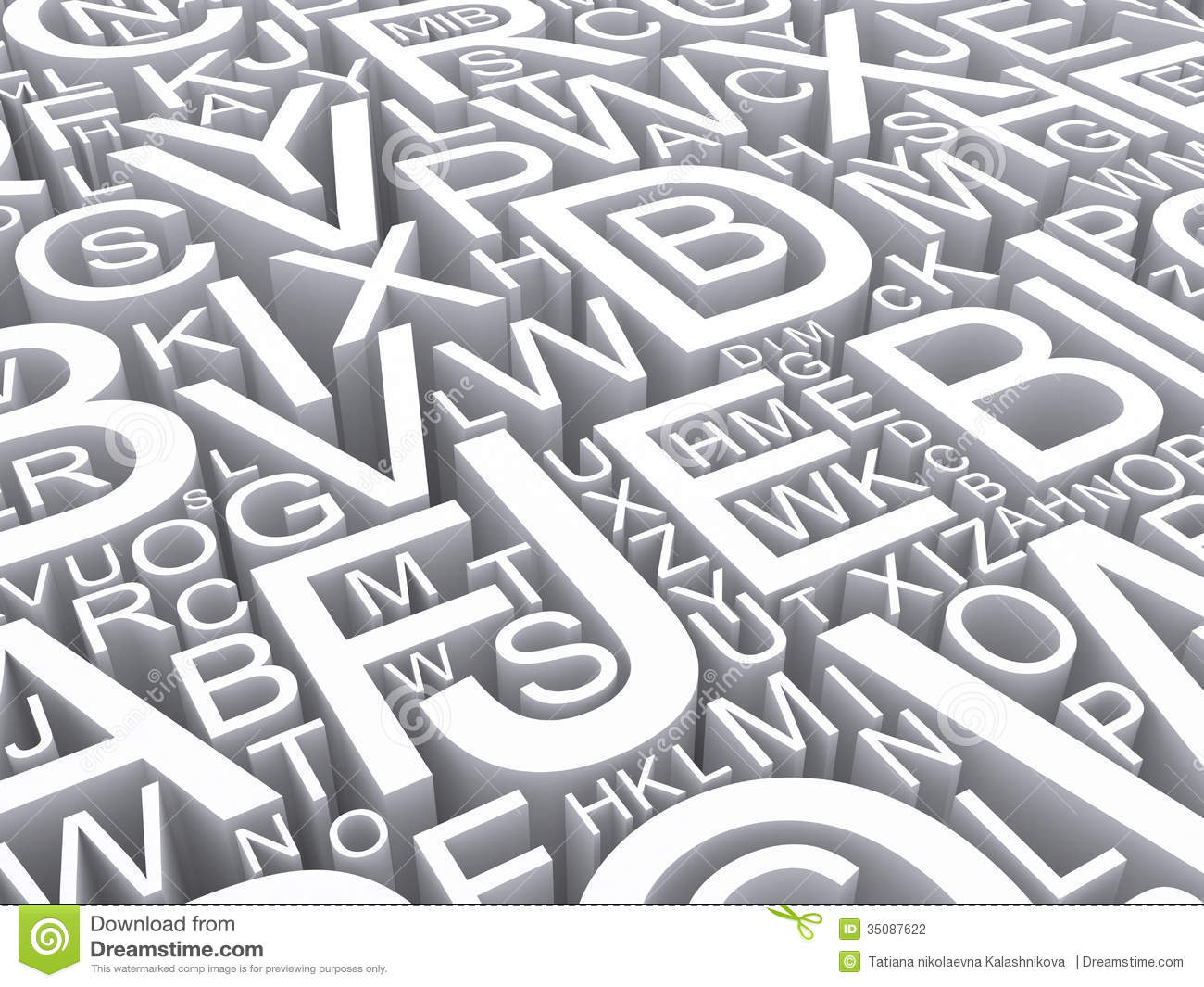 Letters Of The English Alphabet Stock Photography Image