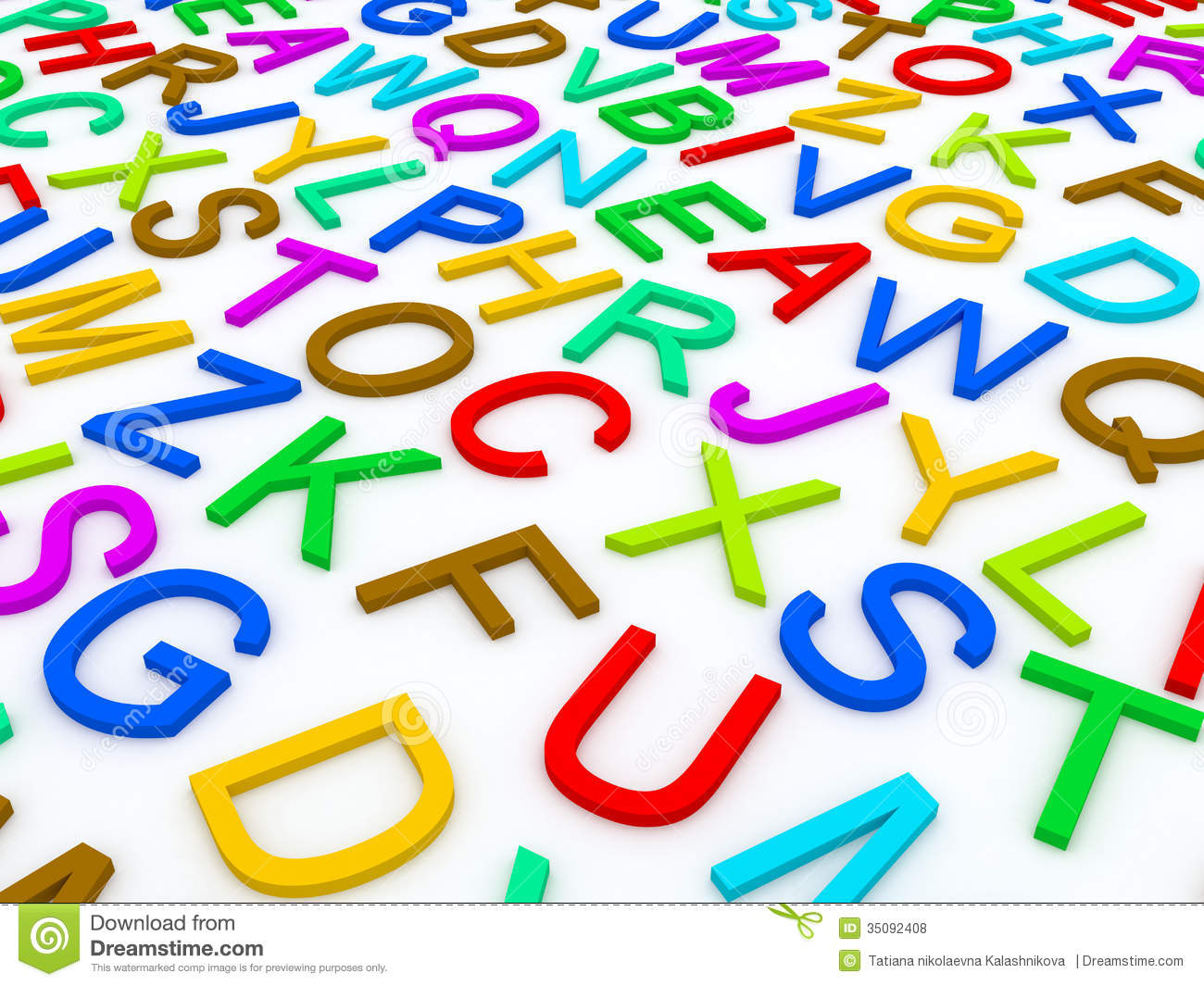 Letters Of The English Alphabet. Stock Photo - Image: 35092408