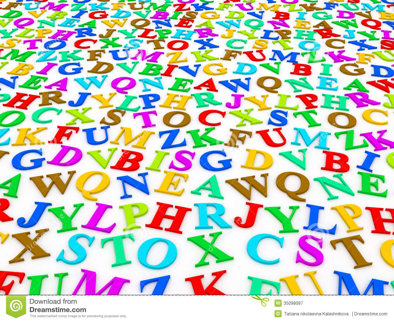 Letters Of The English Alphabet. Royalty Free Stock Photography ...