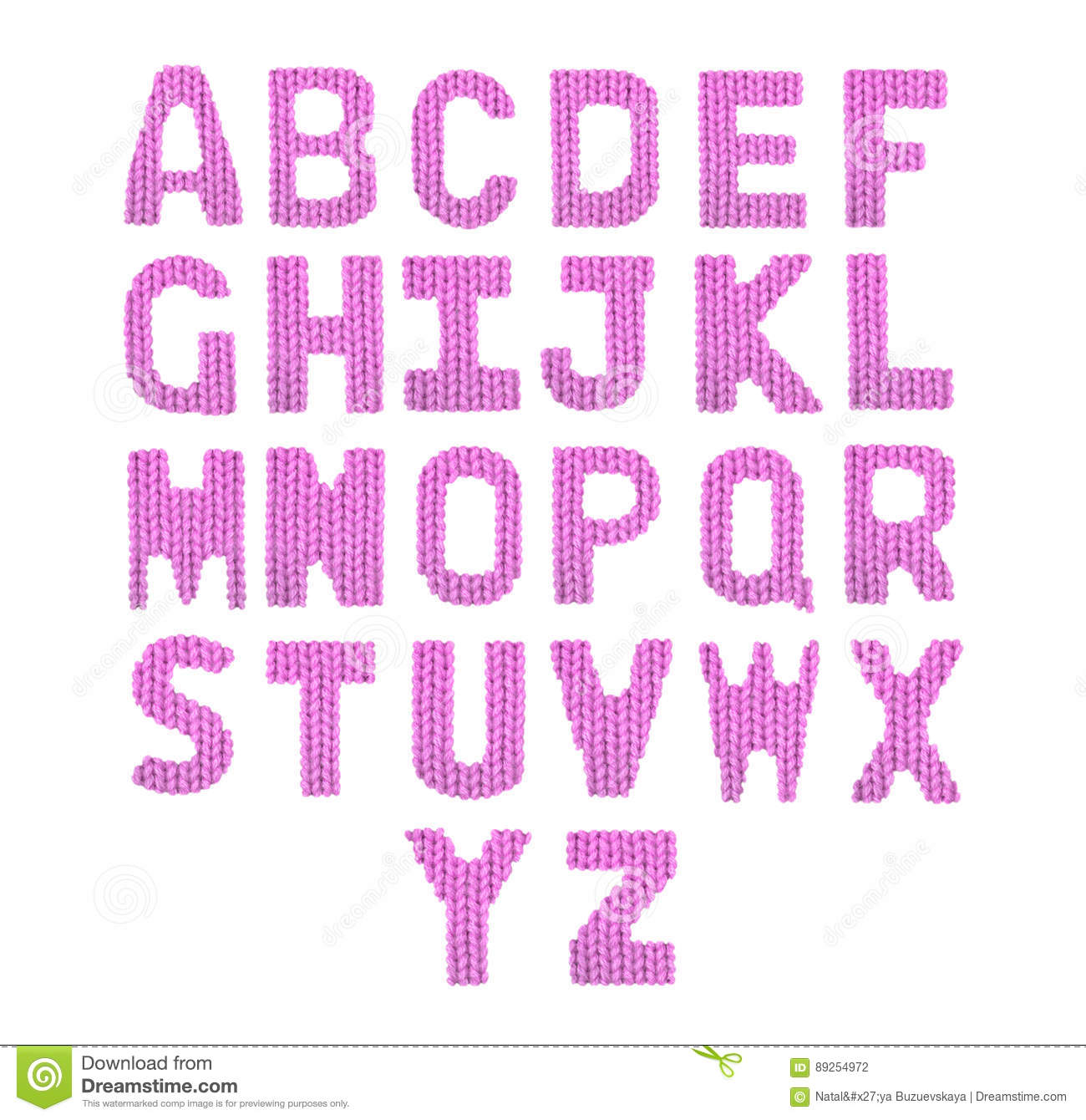 Letters English Alphabet. Color Pink Stock Photo - Image of ...