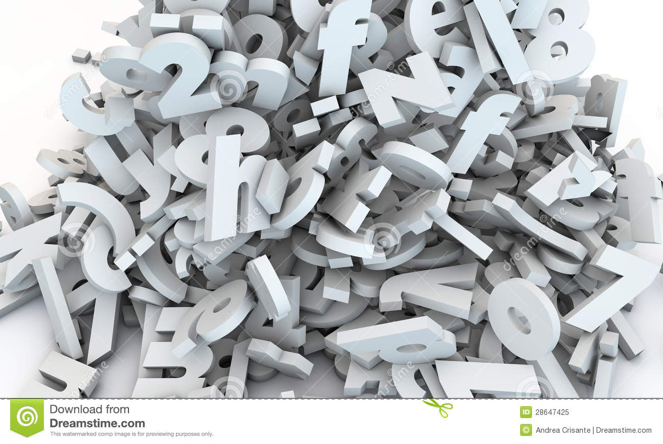 Letters Falling Royalty Free Stock Photo