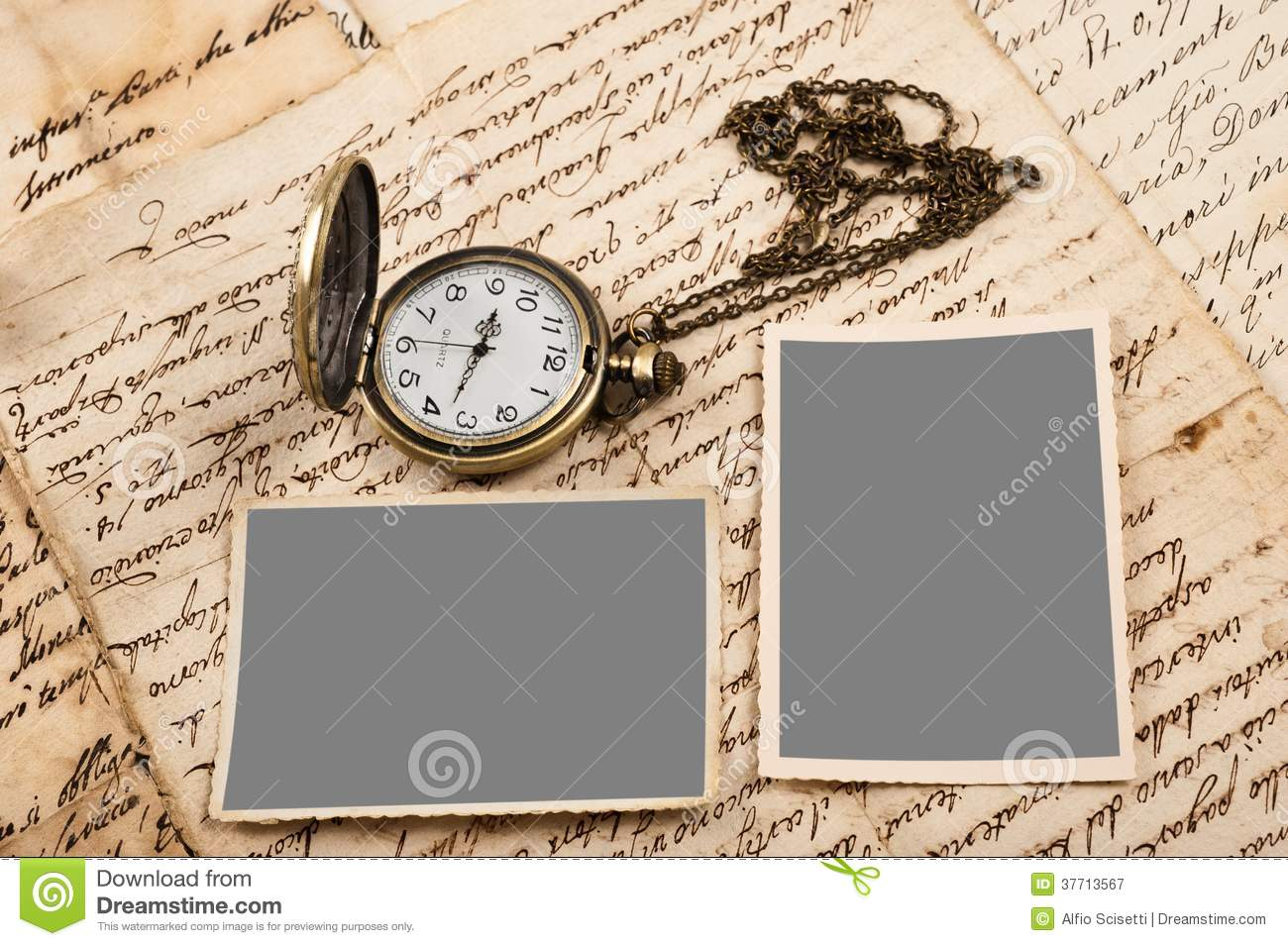 Letters pictures and watch