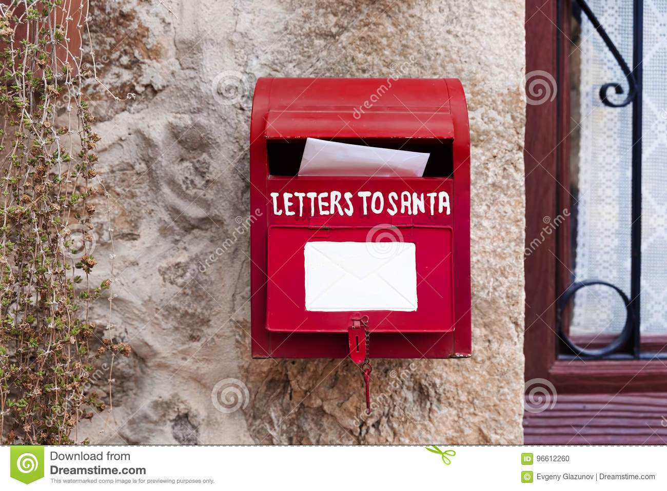 download letters for santa mailbox christmas decoration stock photo image of push claus