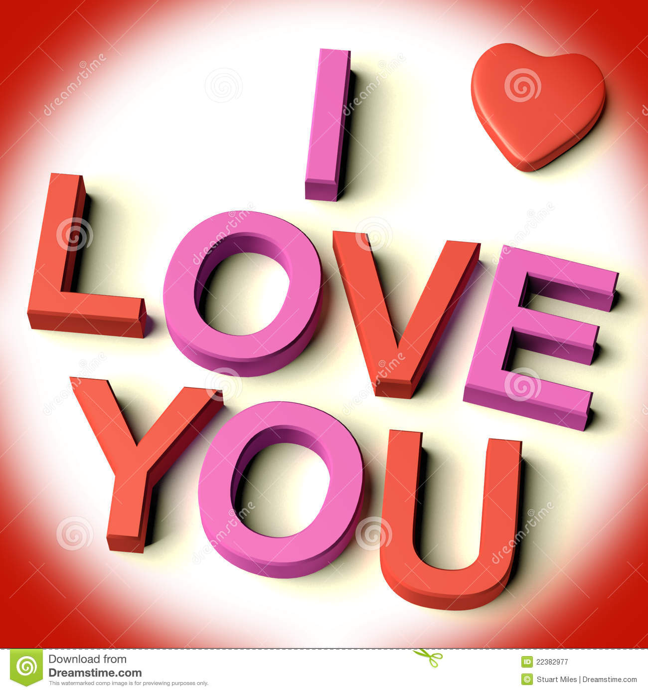 letters spelling i love you with heart