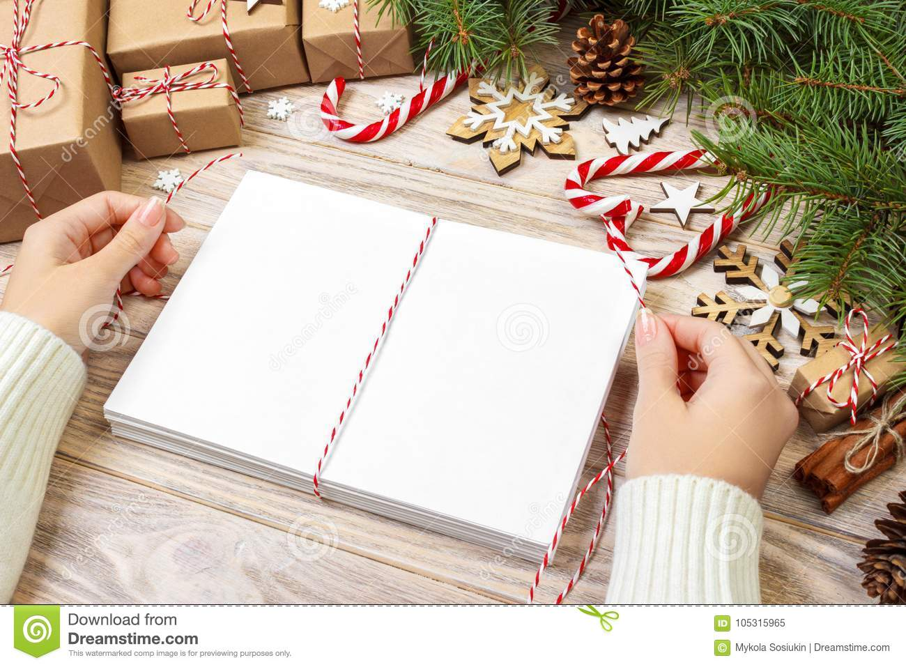 Letters Wrapping And Gift Box Cards For Christmas Greetings