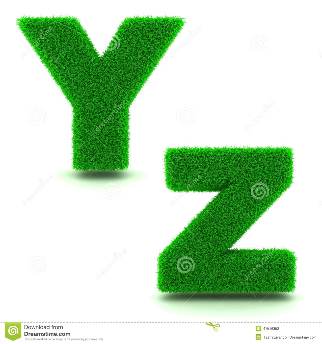 Letters y z of 3d green grass set stock illustration letters y z of 3d green grass set thecheapjerseys Images