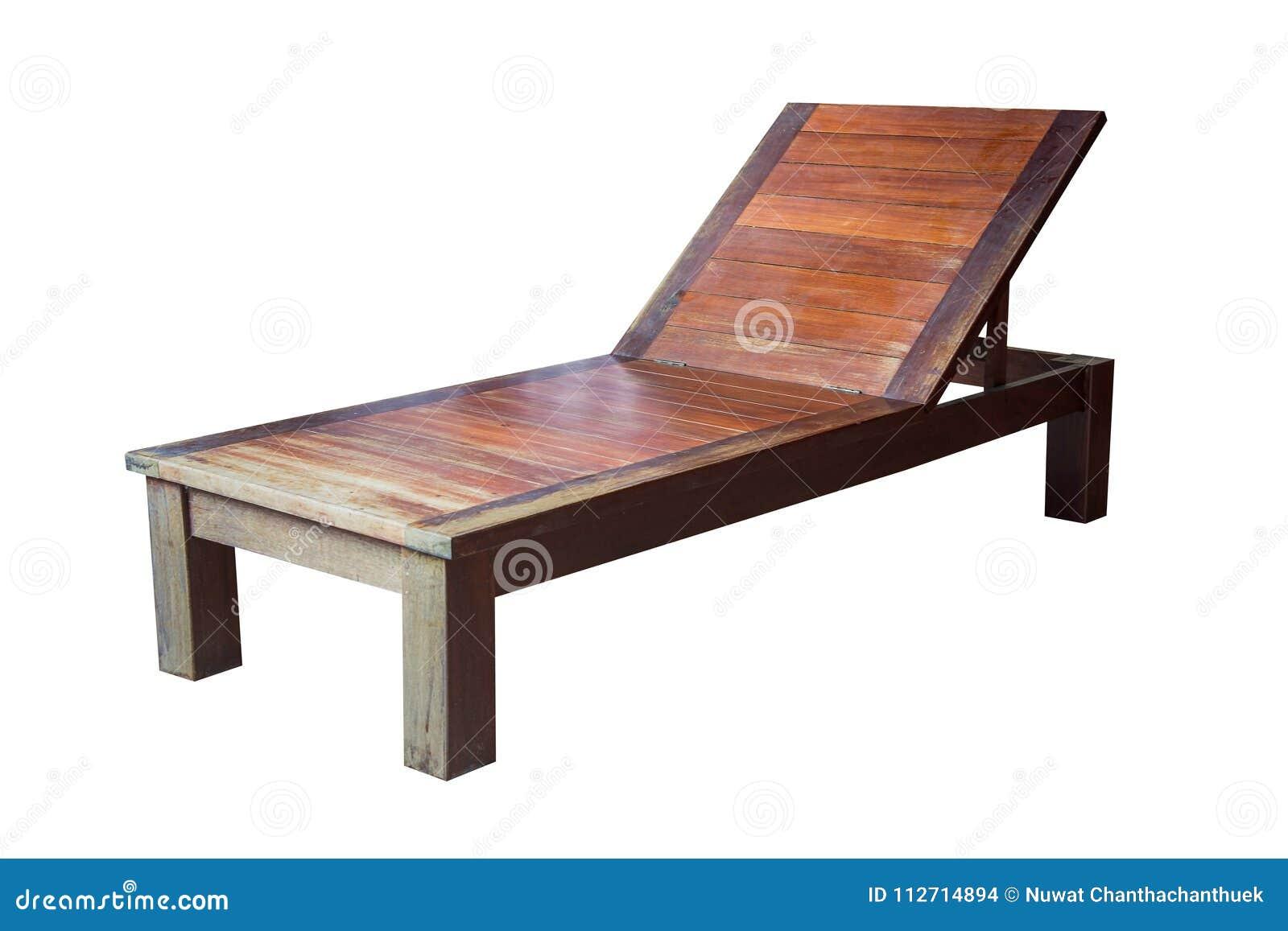 Lettino di legno isolato