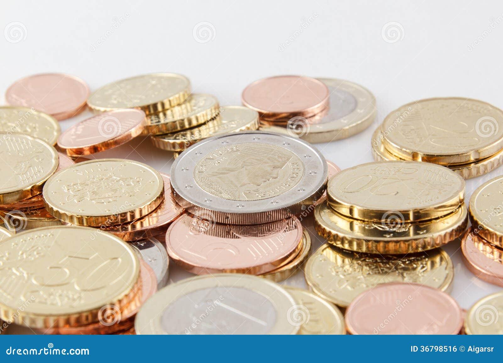Lettland Euro Münzen Stockfoto Bild Von Haufen Baltisch 36798516