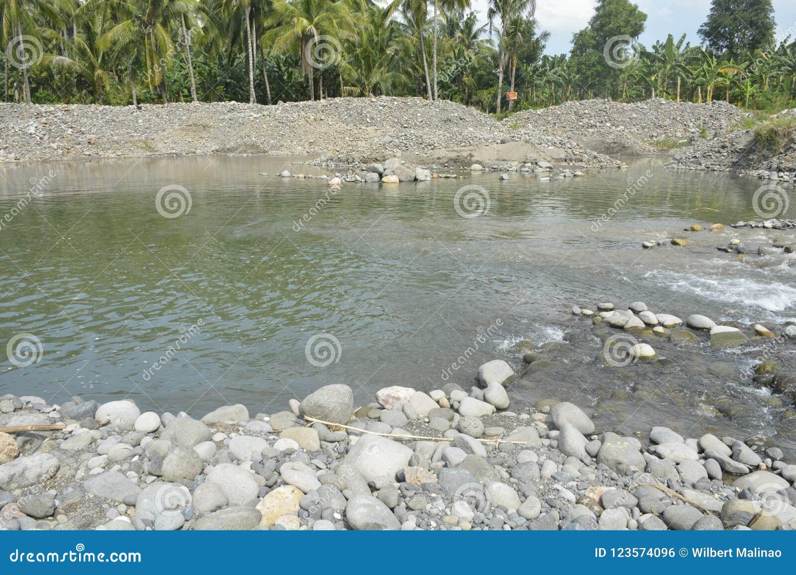 Letto Del Fiume.Letto Del Fiume Di Mal Matanao Davao Del Sur Filippine