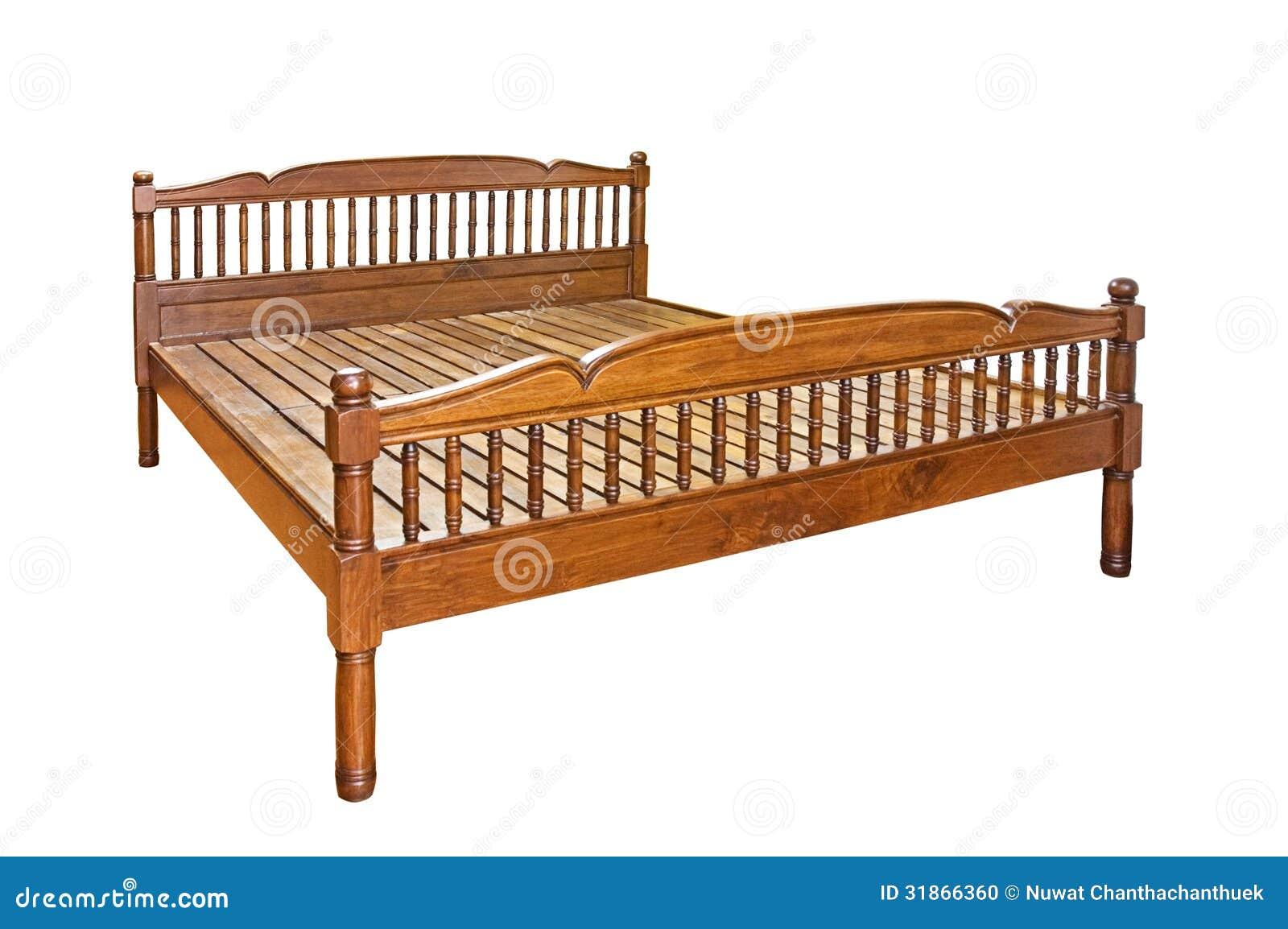 Letto di legno fotografia stock immagine 31866360 - Letto pedane di legno ...