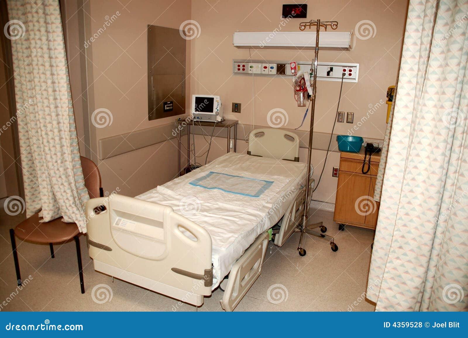 Letto di ospedale fotografia stock immagine di cura - Letto di emergenza ...