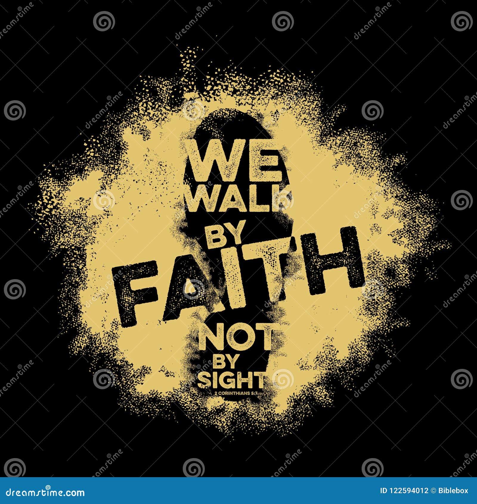 Lettrage de bible Christian Art Nous marchons par la foi, pas par vue
