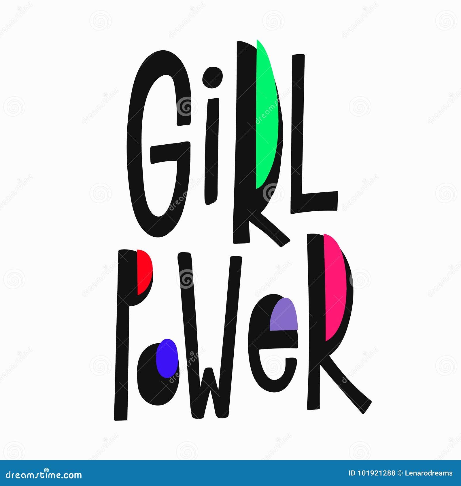 Lettrage de citation de T-shirt de puissance de fille