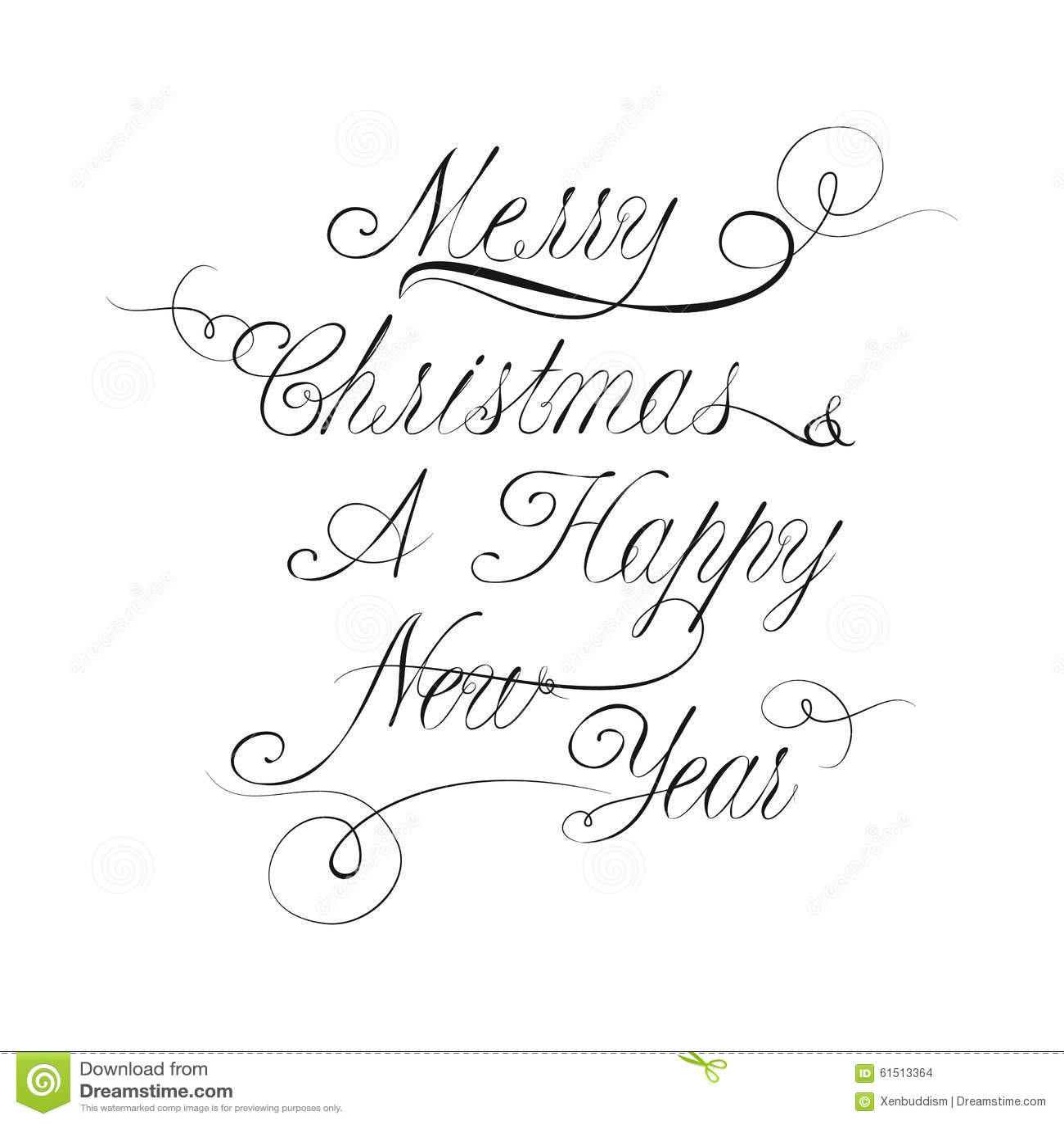 Fabuleux Lettrage De Noël Et De Nouvelle Année Dans Le Style De  OO29