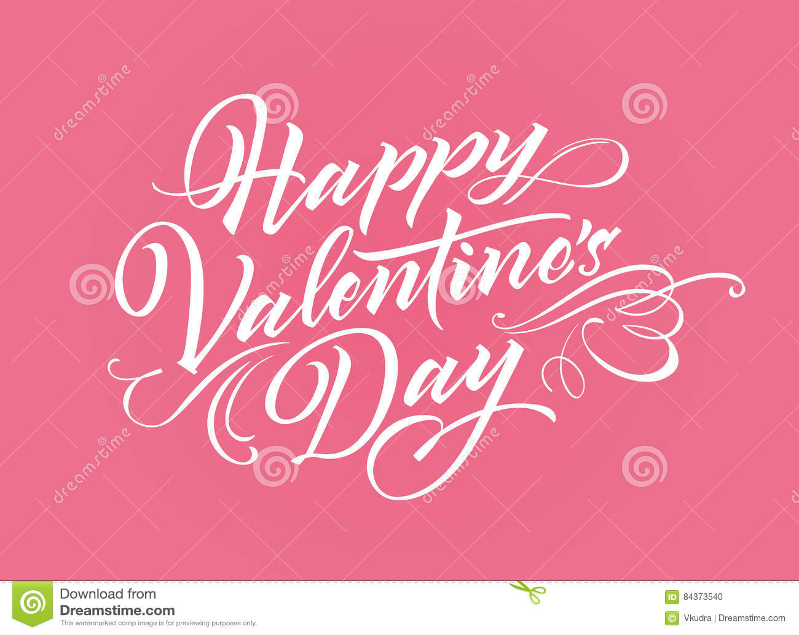 Lettrage heureux de Valentine Day