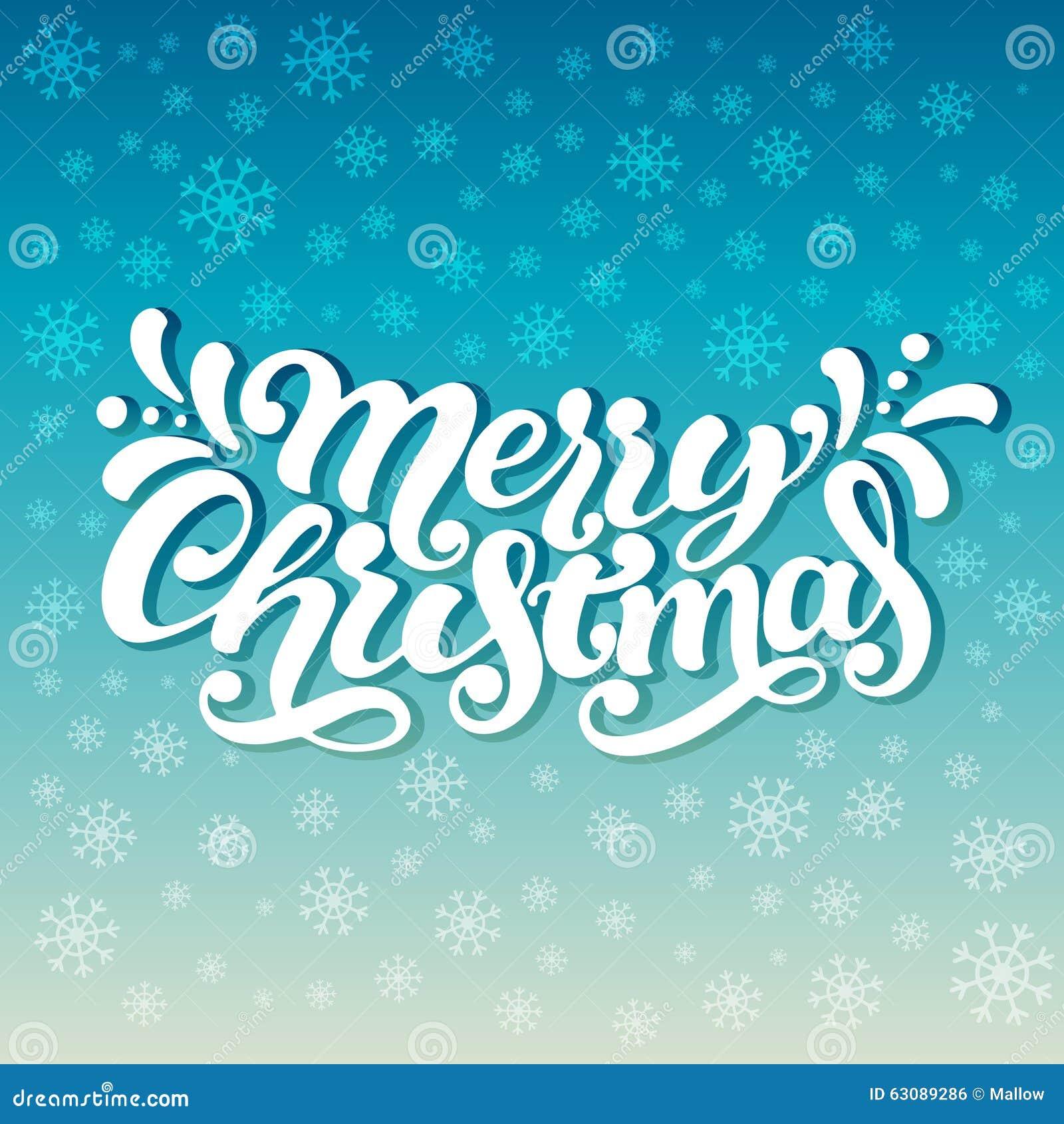 Download Lettrage 'Joyeux Noël' De Main Illustration de Vecteur - Illustration du postcard, peint: 63089286