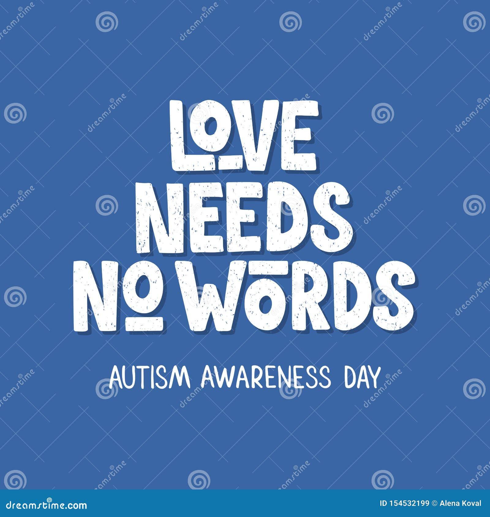 Lettrage tiré par la main d autisme
