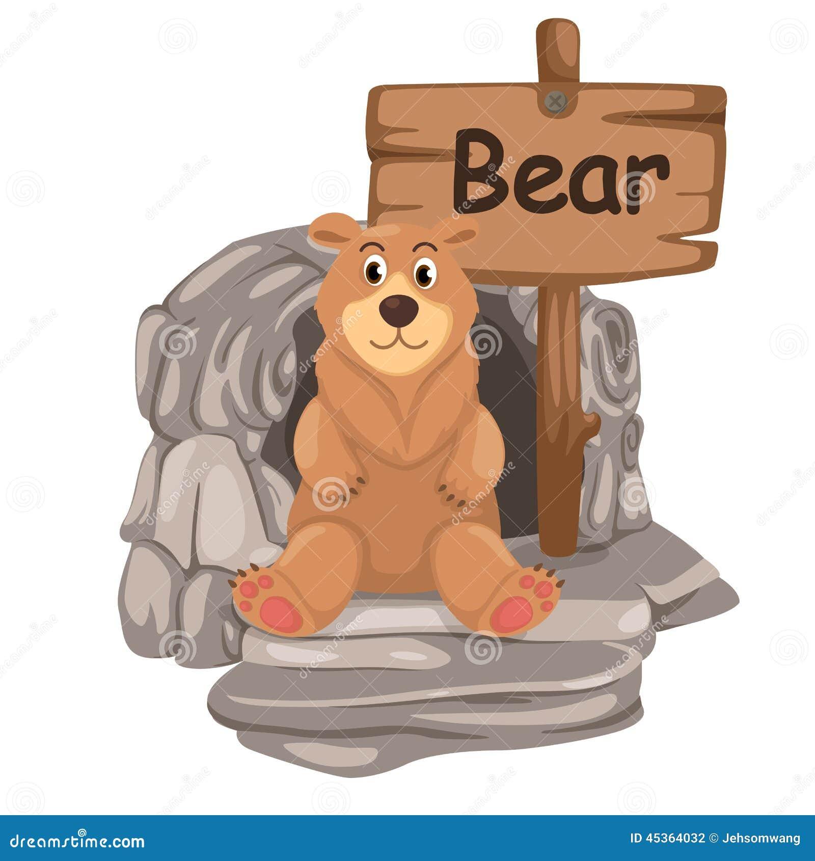 Lettre animale B d alphabet pour l ours