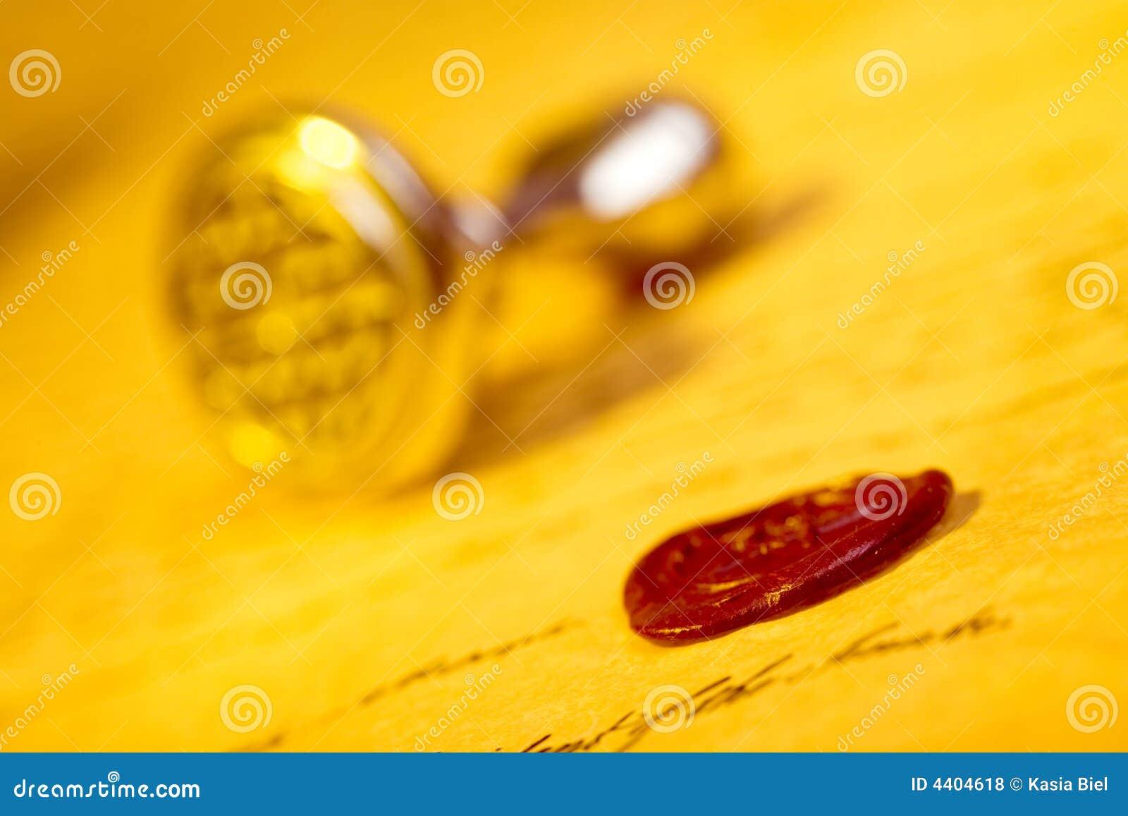 Lettre avec le sceau de cire