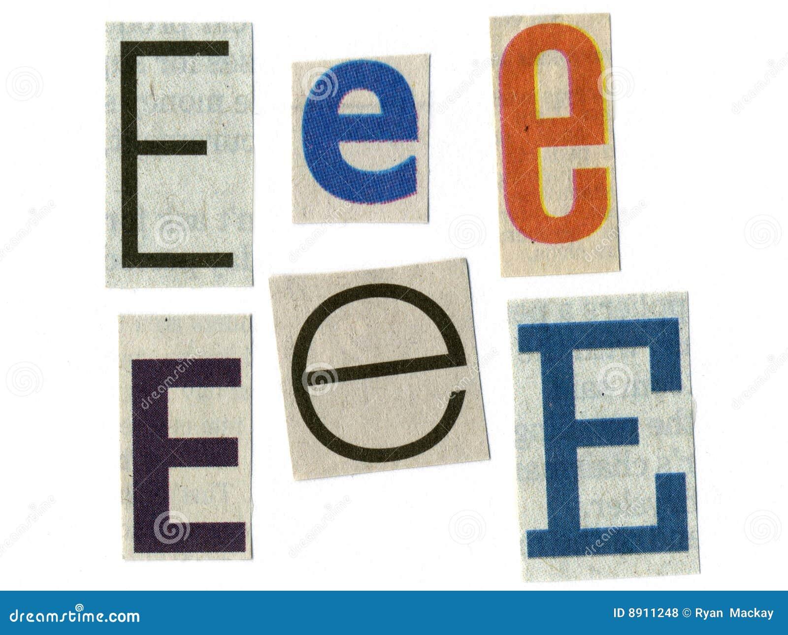 Lettre coup e du papier journal photos libres de droits for Dans en 2 lettres