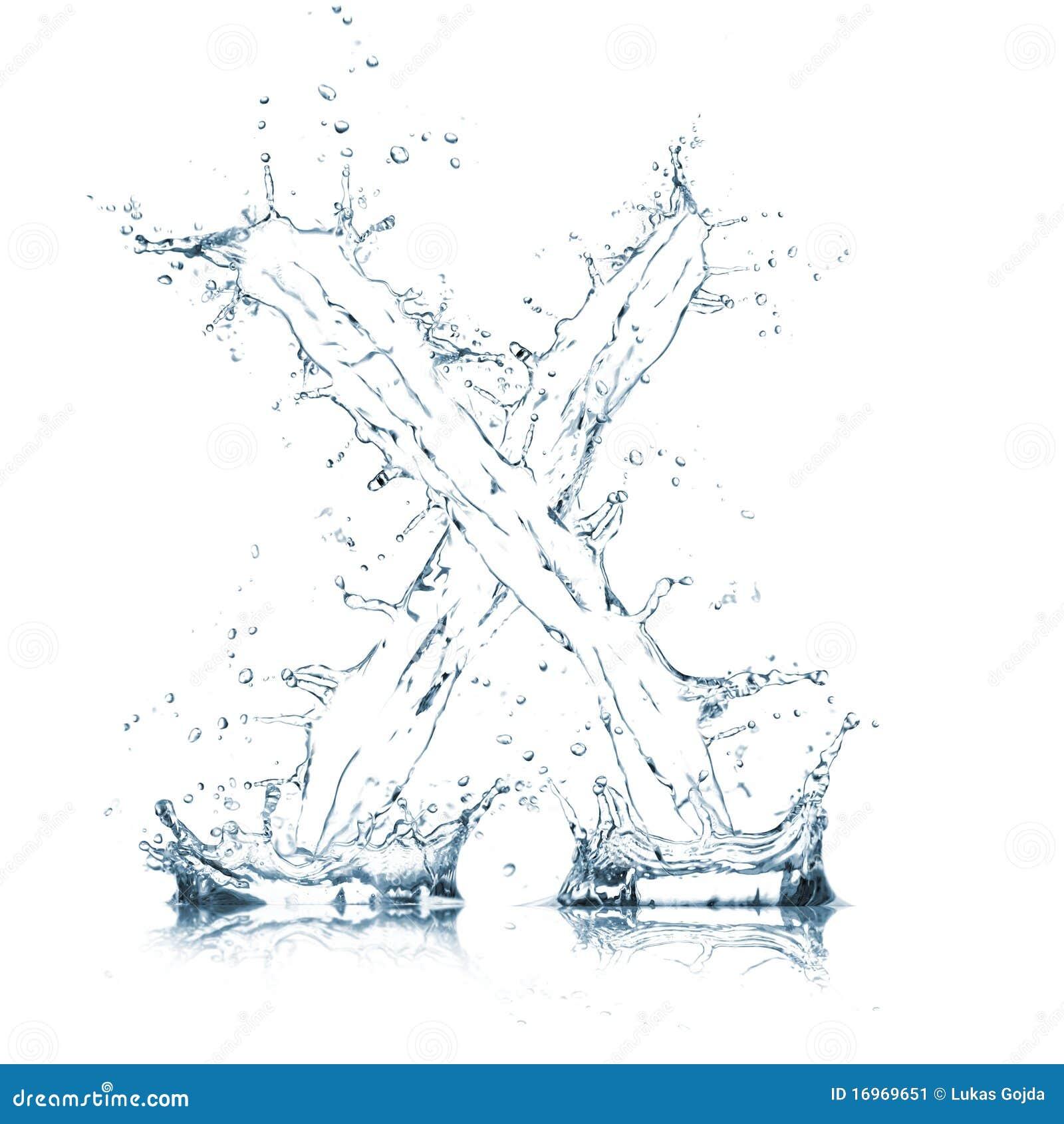 Lettre X d alphabet de l eau