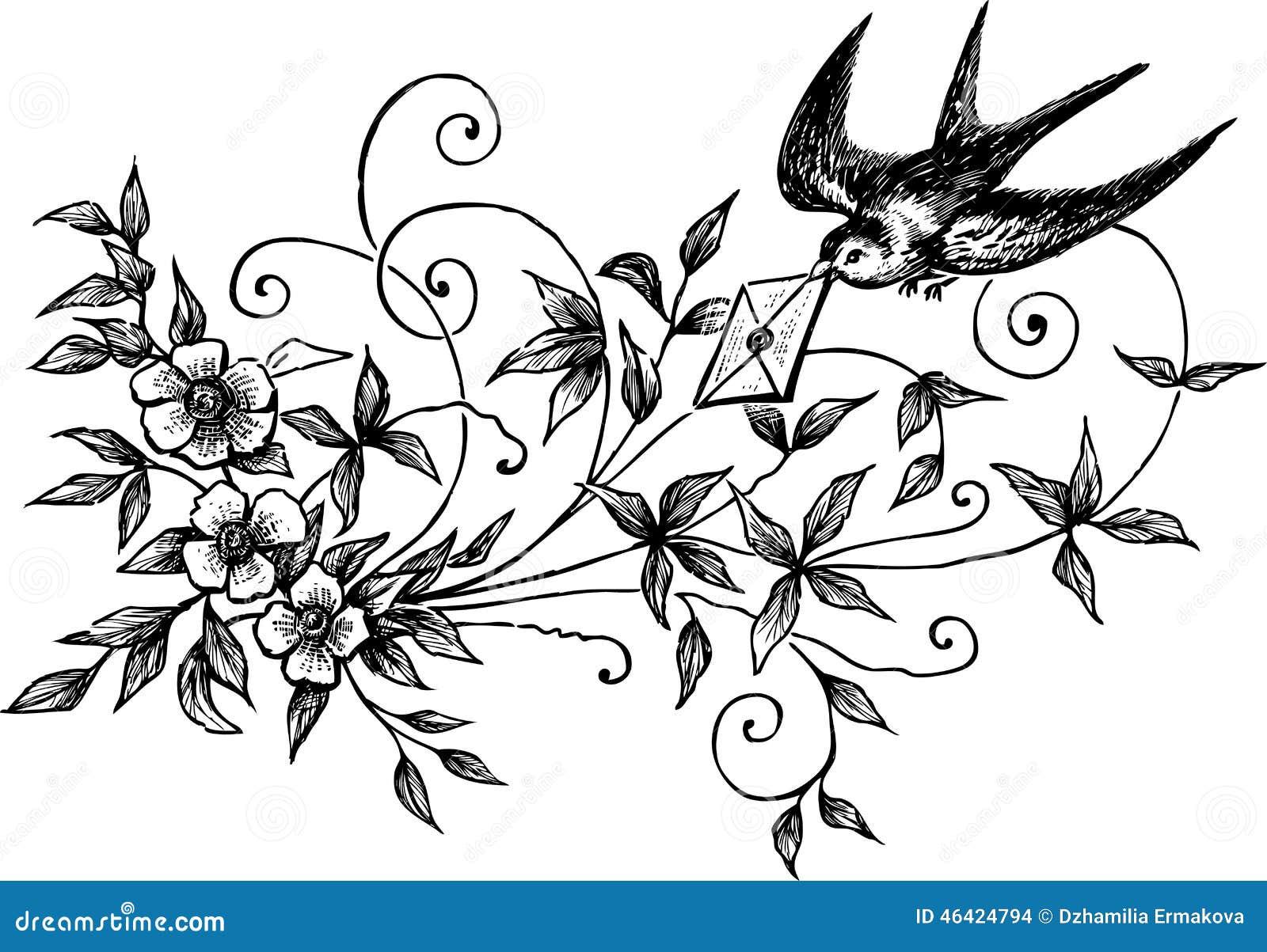 lettre d 39 amour illustration de vecteur image 46424794. Black Bedroom Furniture Sets. Home Design Ideas
