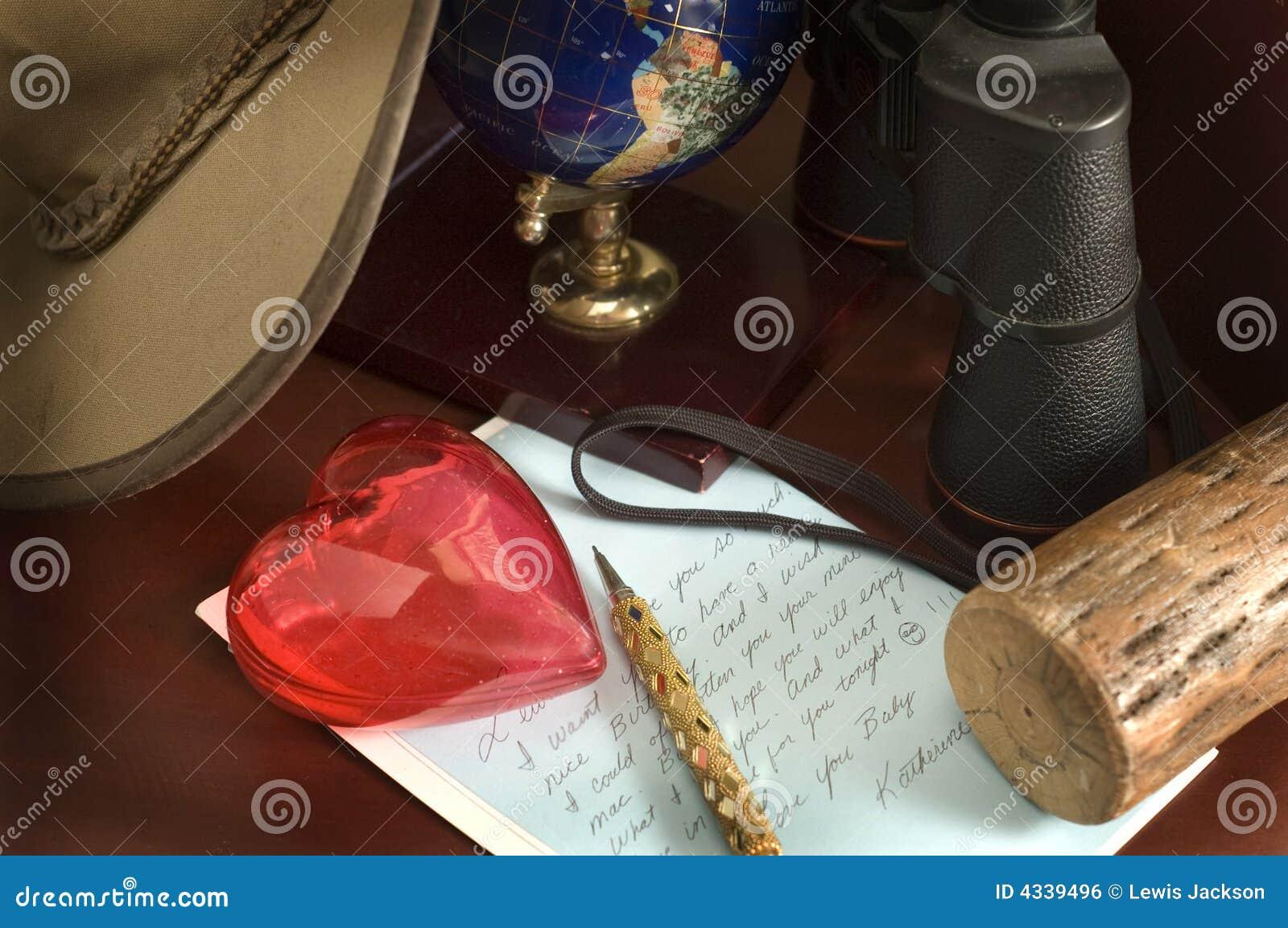 Lettre d amour sur un bureau photo stock image du bureau