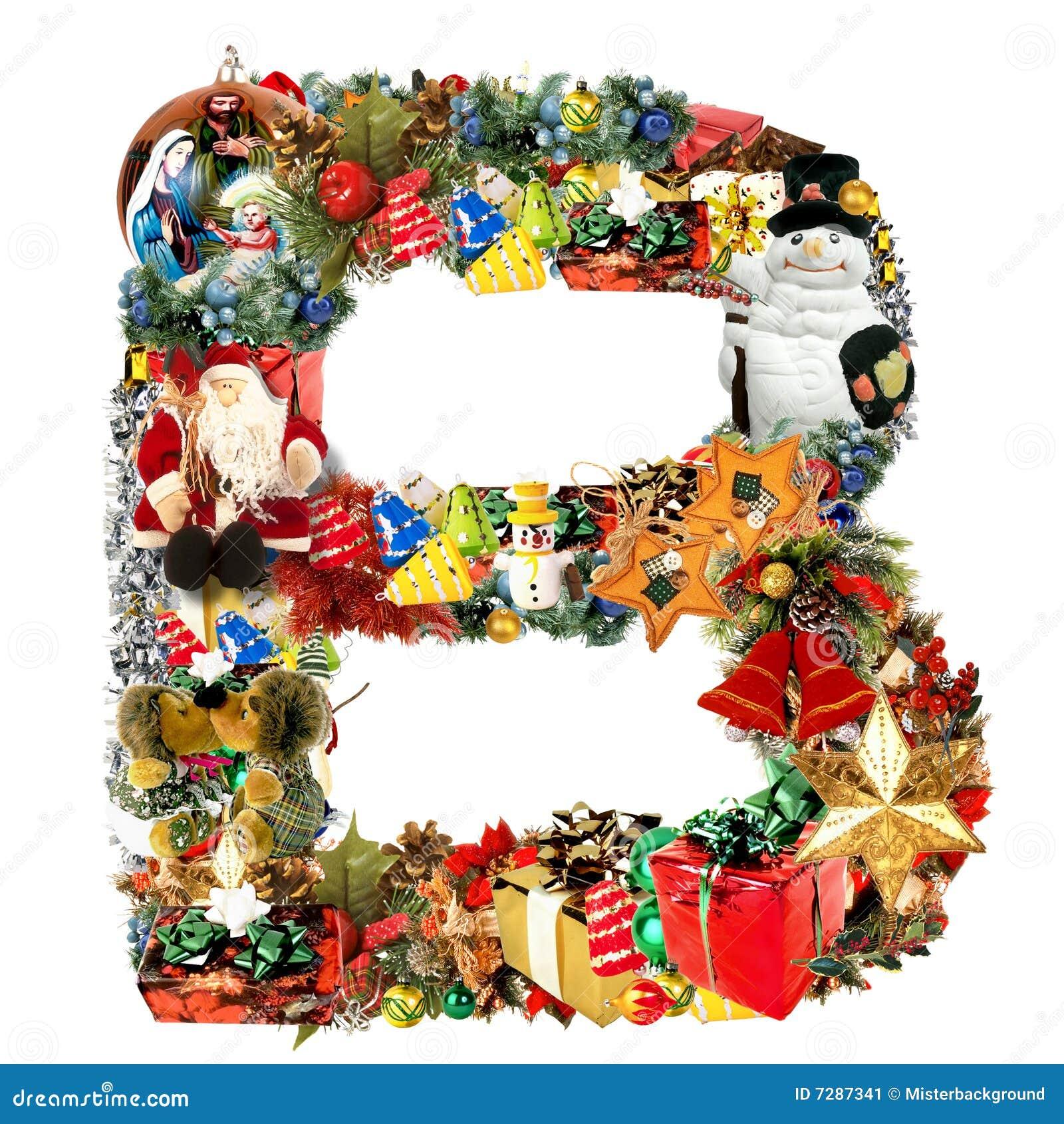 Lettre De Décoration De Noël De B Illustration Stock