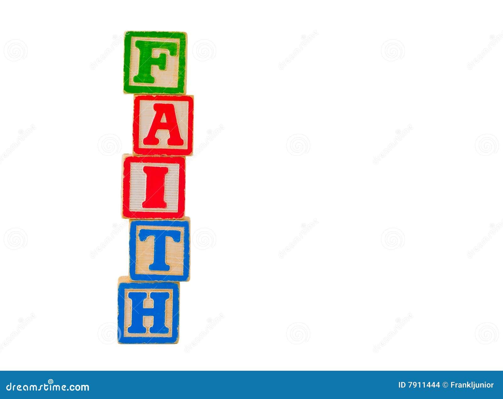 Lettre de foi de 2 blocs
