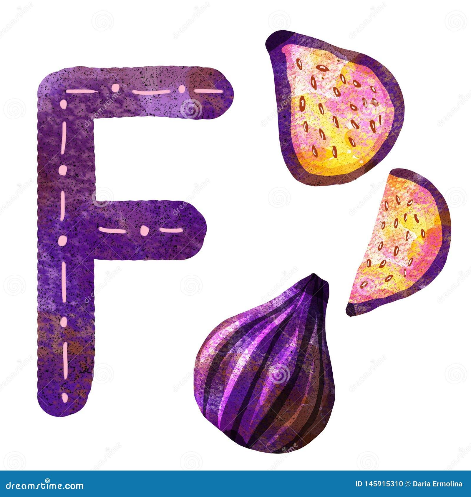 Lettre f d alphabet anglais