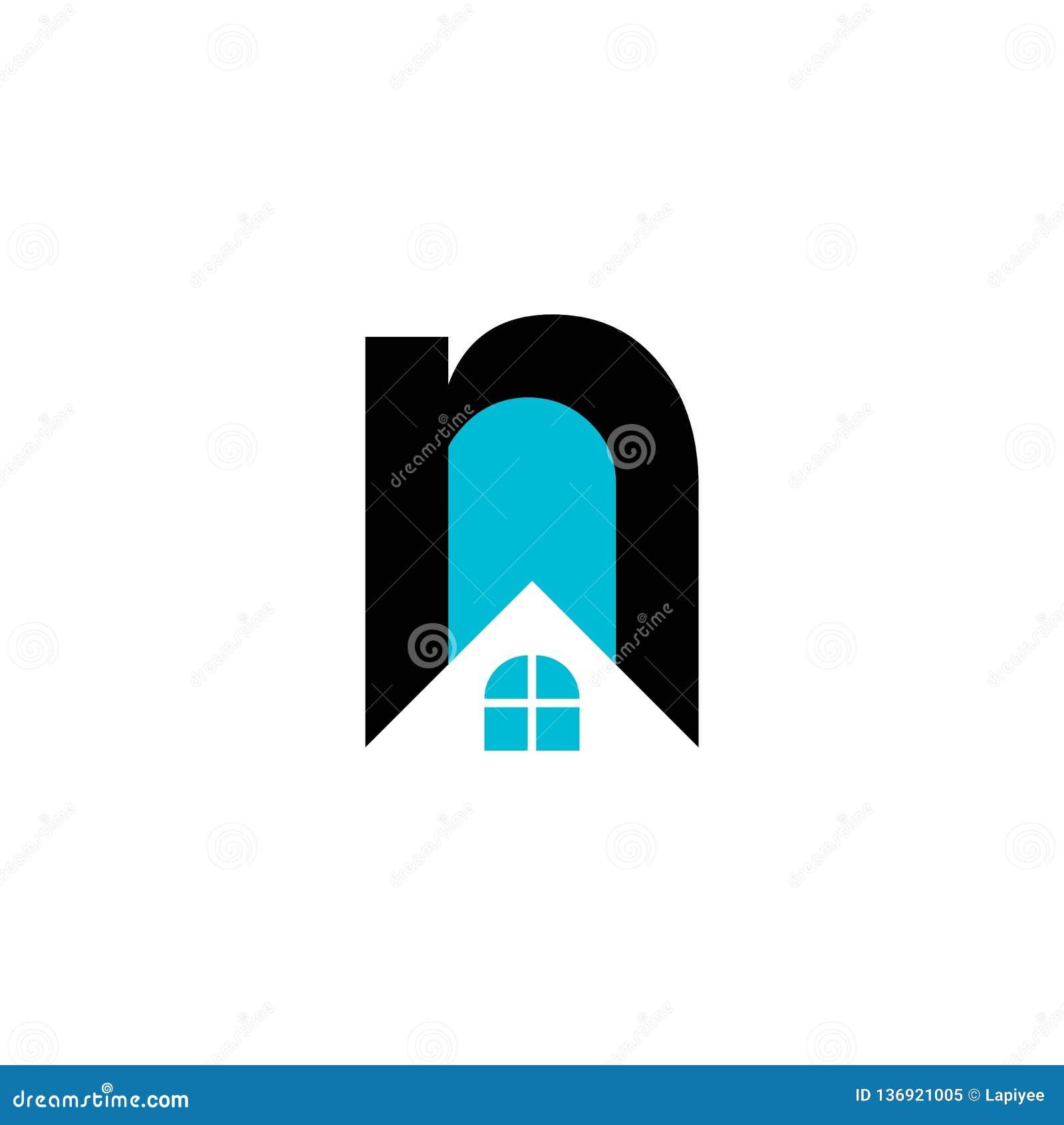 Lettre N De Real Estate Et Calibre De Logo De Vecteur De ...