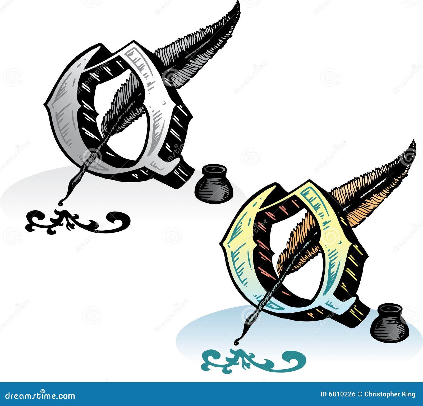 lettre q de type de tatouage illustration de vecteur illustration du type cannette 6810226. Black Bedroom Furniture Sets. Home Design Ideas