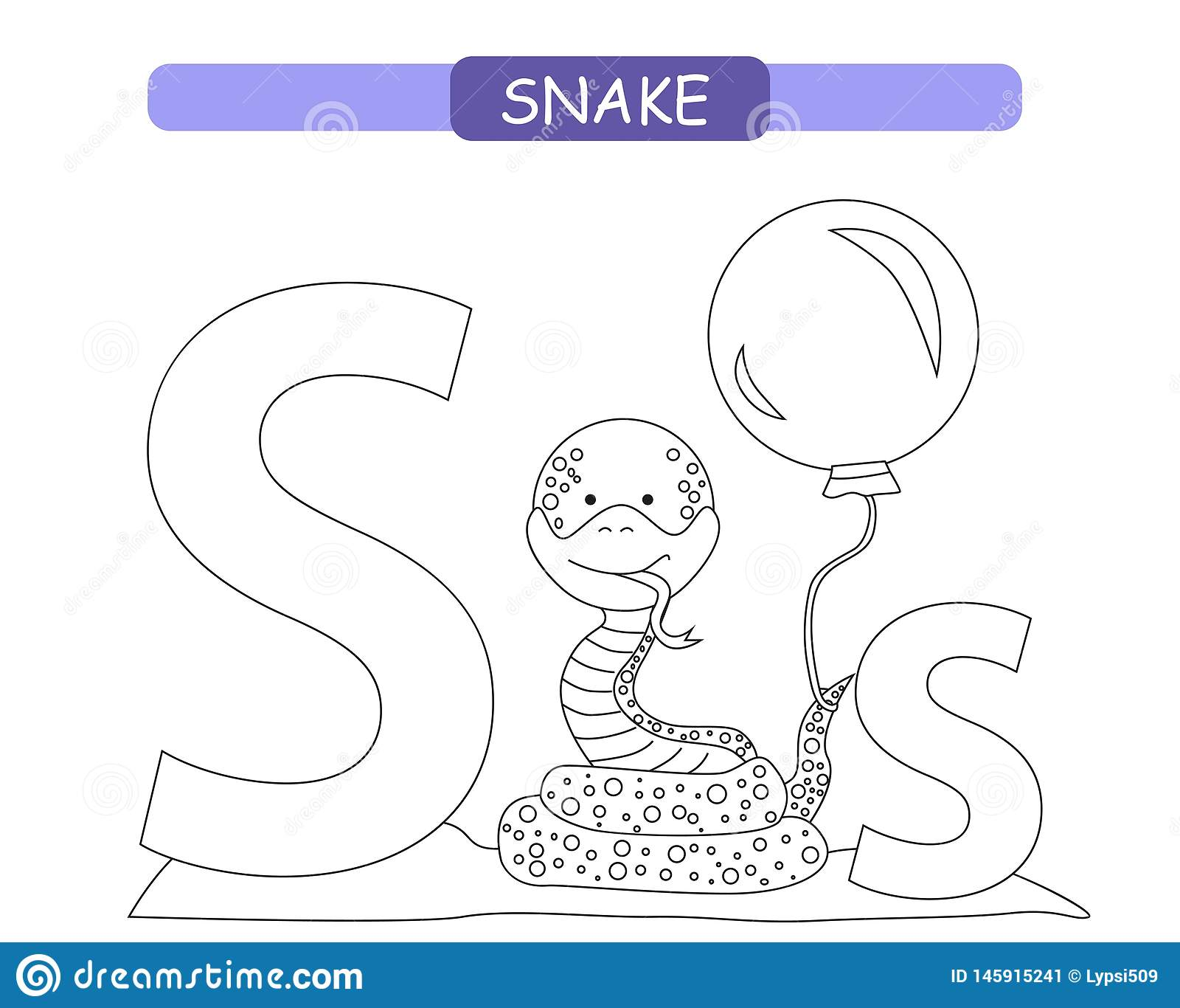 Lettre S Et Serpent Dr Le De Bande Dessin E Page De