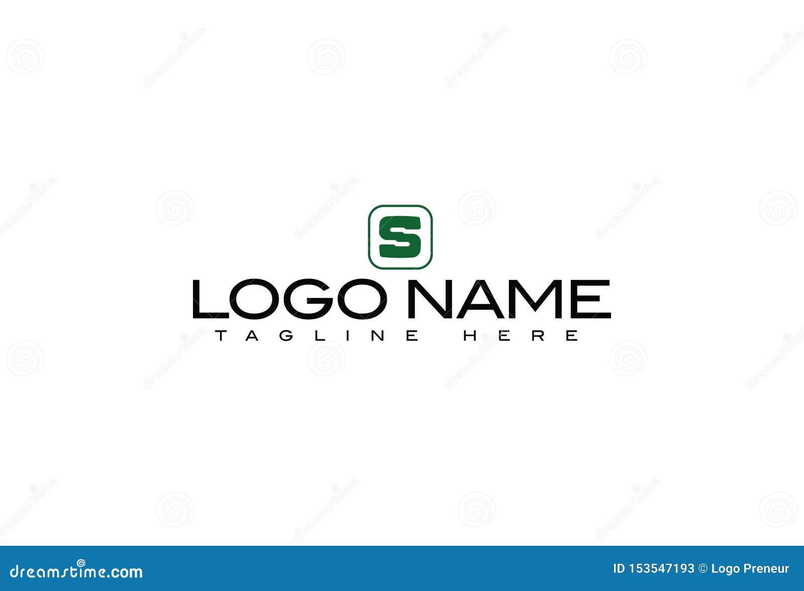 Lettre S Logo Design d alphabet