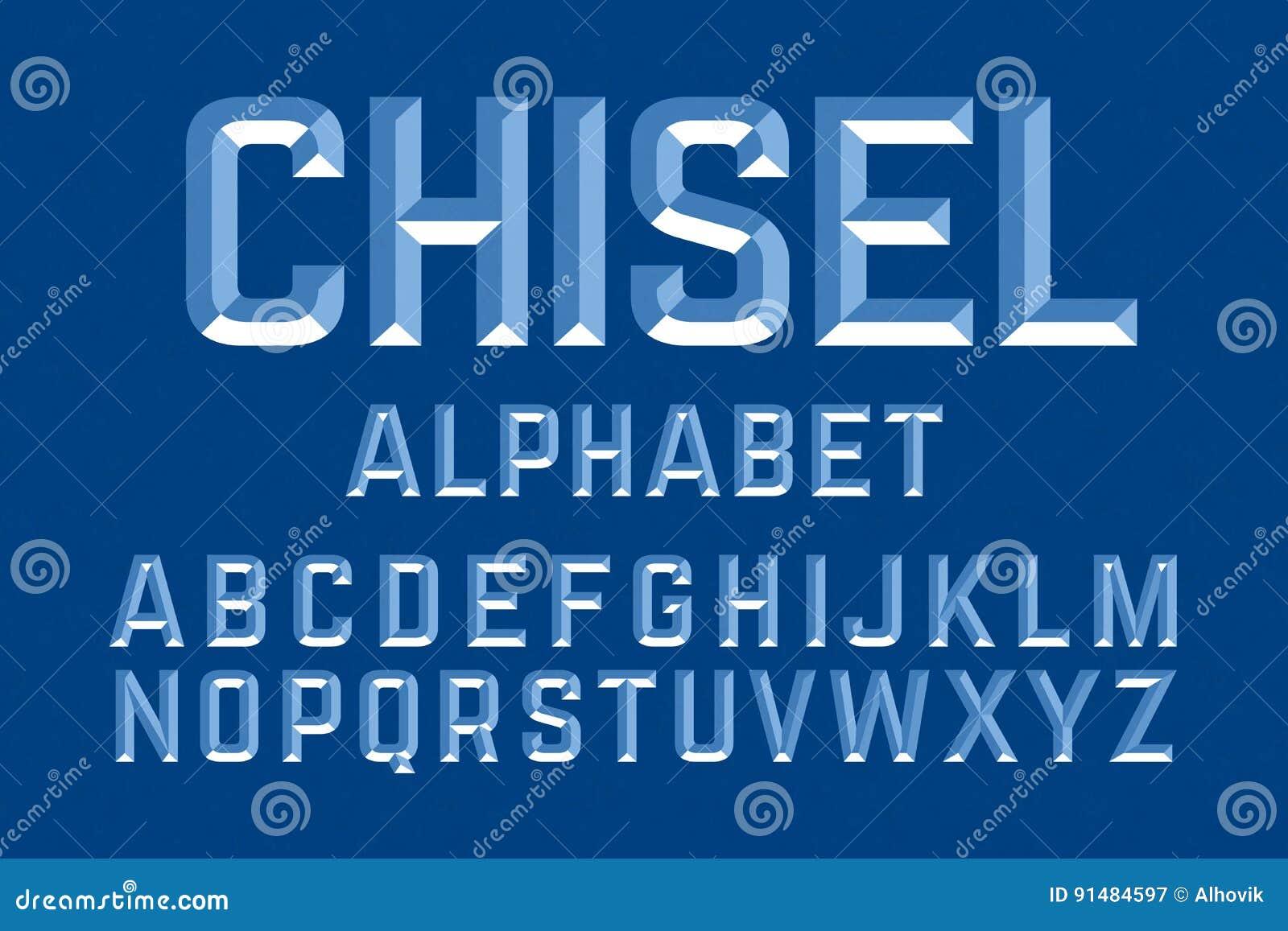 Lettres ciselées d alphabet