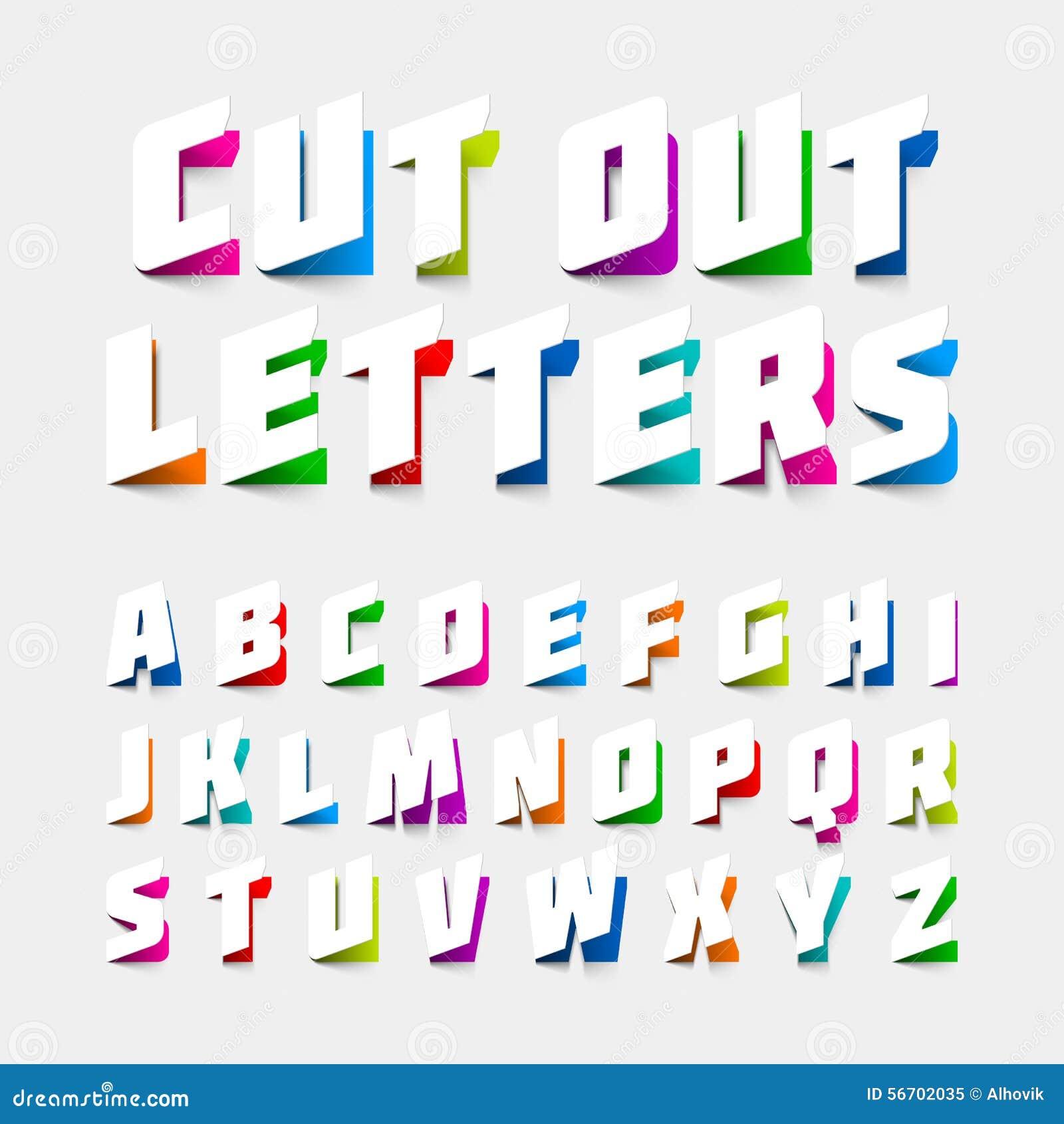 Lettres d alphabet coupées du papier