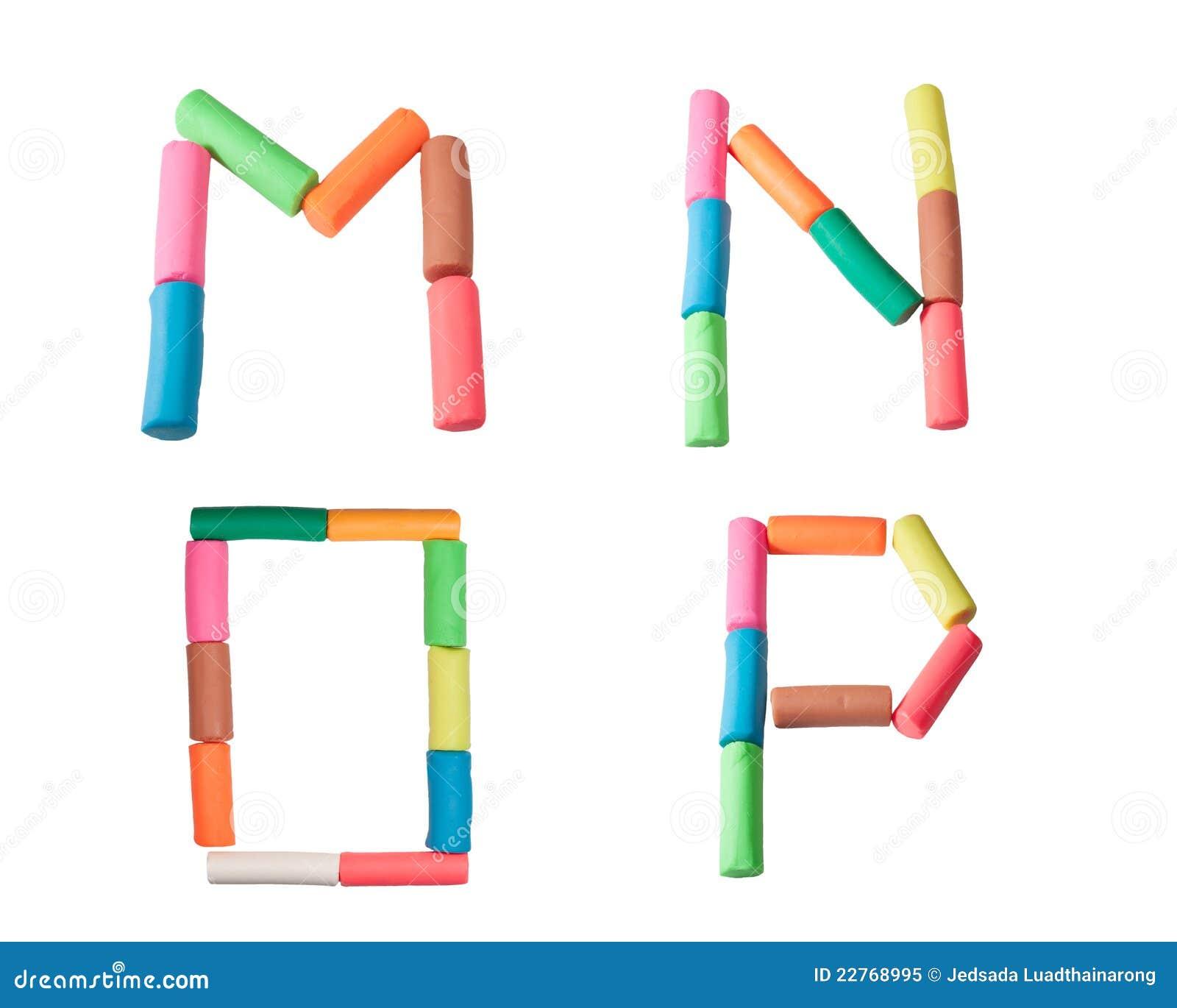 lettres d alphabet de p 226 te 224 modeler m n o p photo libre de droits image 22768995
