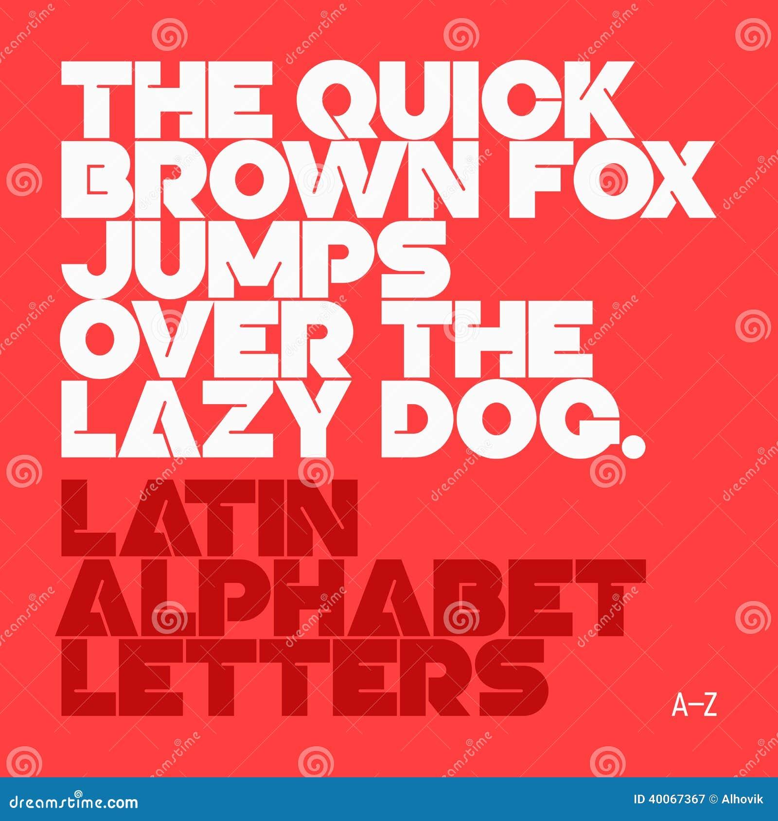 Lettres d alphabet latin