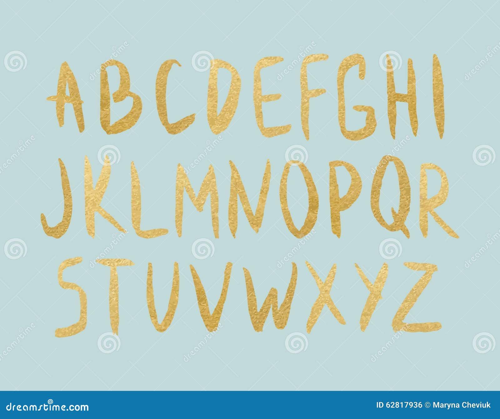 Lettres de feuille d or de vecteur sur le fond en bon état