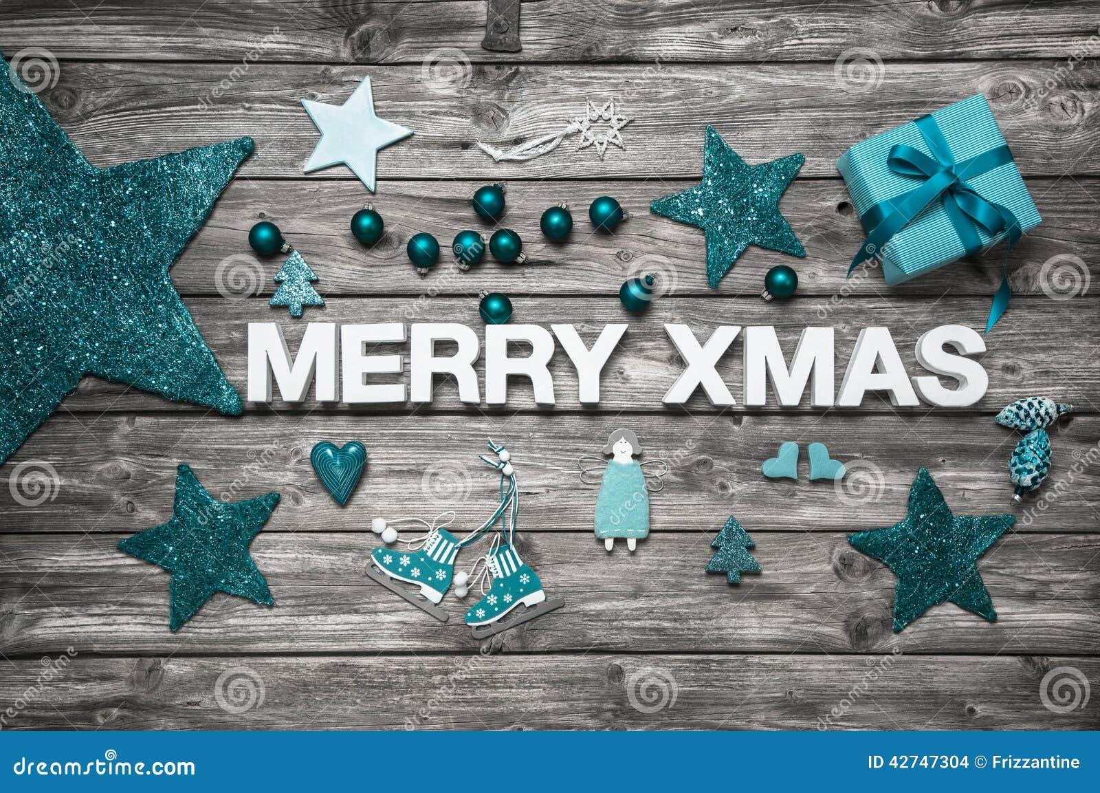 #184F5A Lettres De Joyeux Noël Dans Le Blanc Avec La Décoration De  6095 decoration de noel turquoise 1300x953 px @ aertt.com