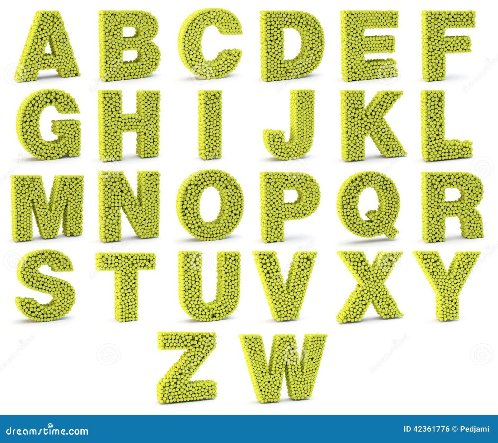 Bien connu Lettres De L'alphabet 3D Images libres de droits - Image: 34500239 AV39