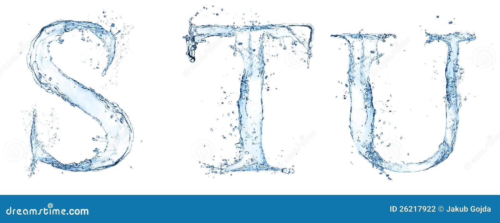 Lettres de l eau