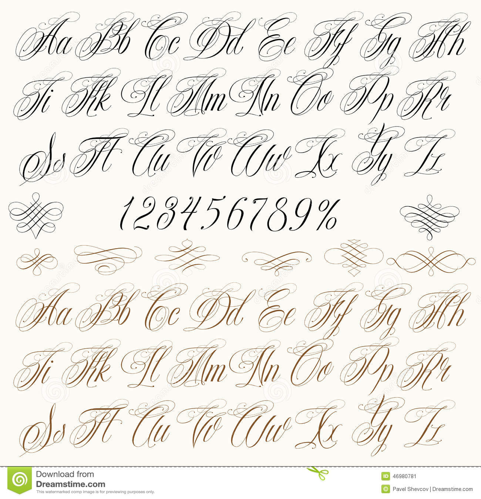 Lettres De Tatouage Illustration De Vecteur Illustration Du