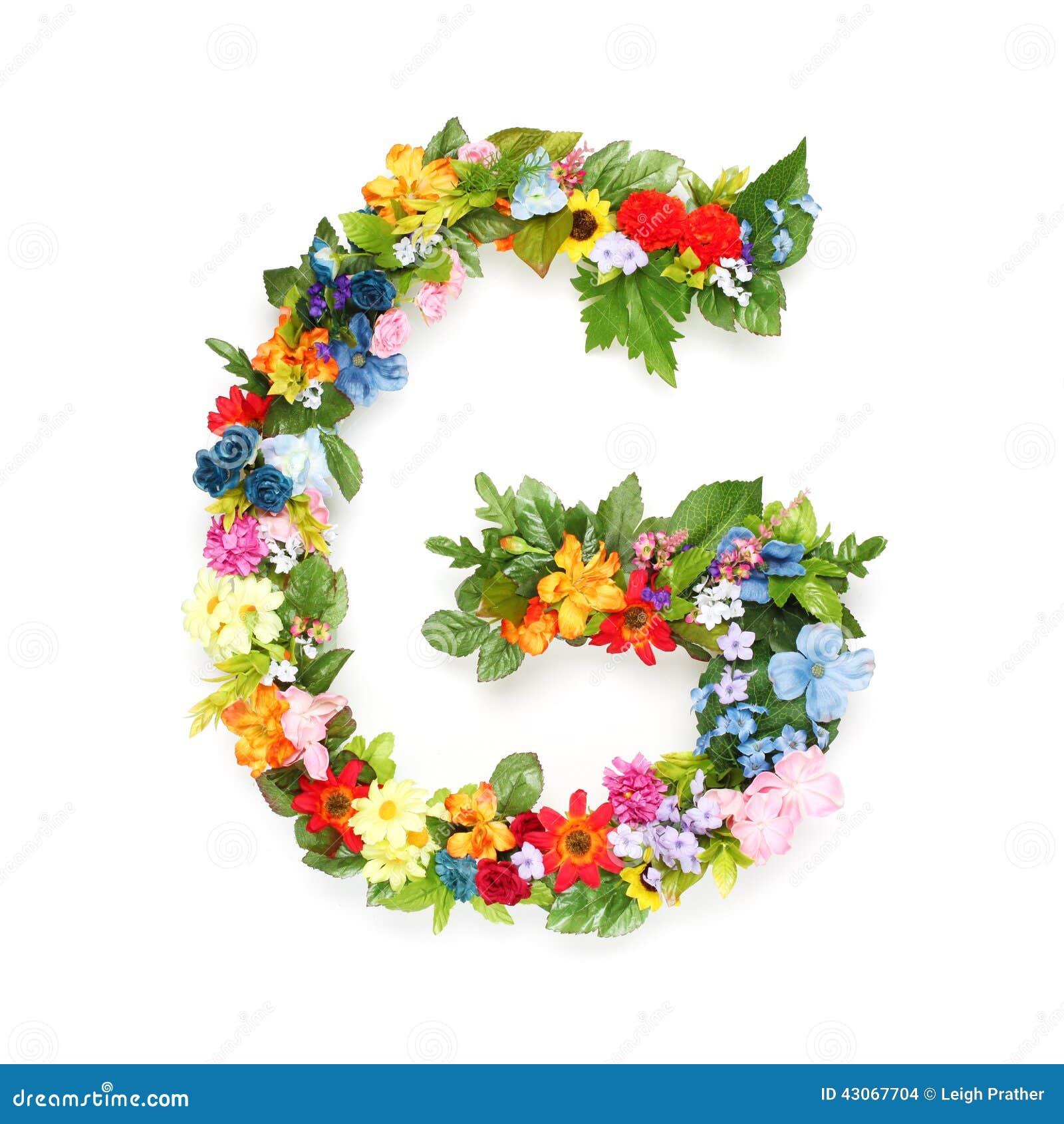 lettres des feuilles et des fleurs photo stock image 43067704. Black Bedroom Furniture Sets. Home Design Ideas